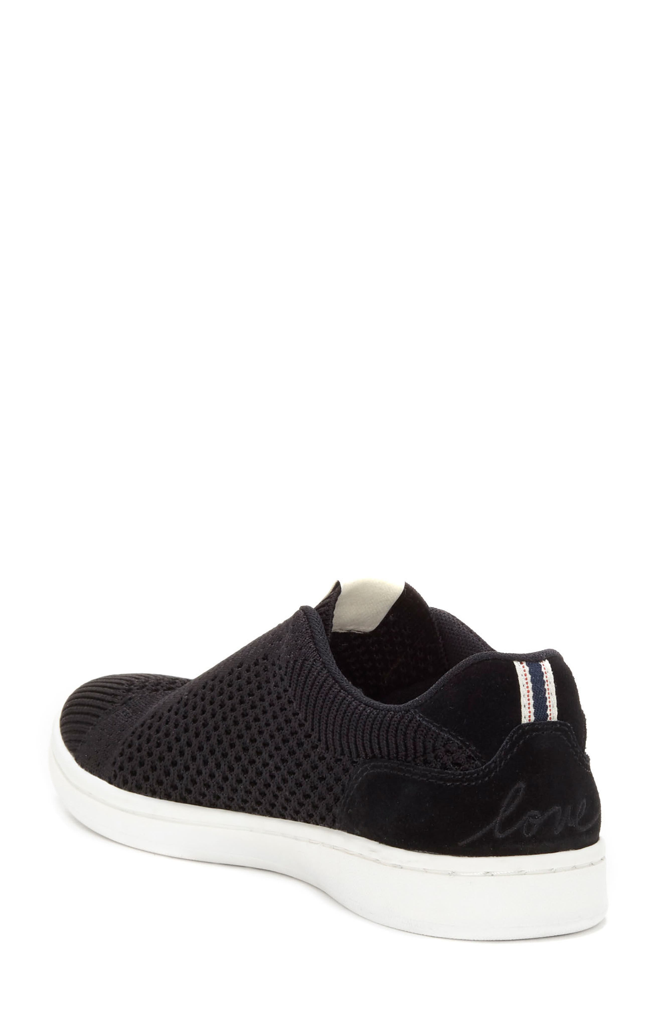 Casbey Slip-On Sneaker,                             Alternate thumbnail 2, color,                             BLACK/ BLACK FABRIC