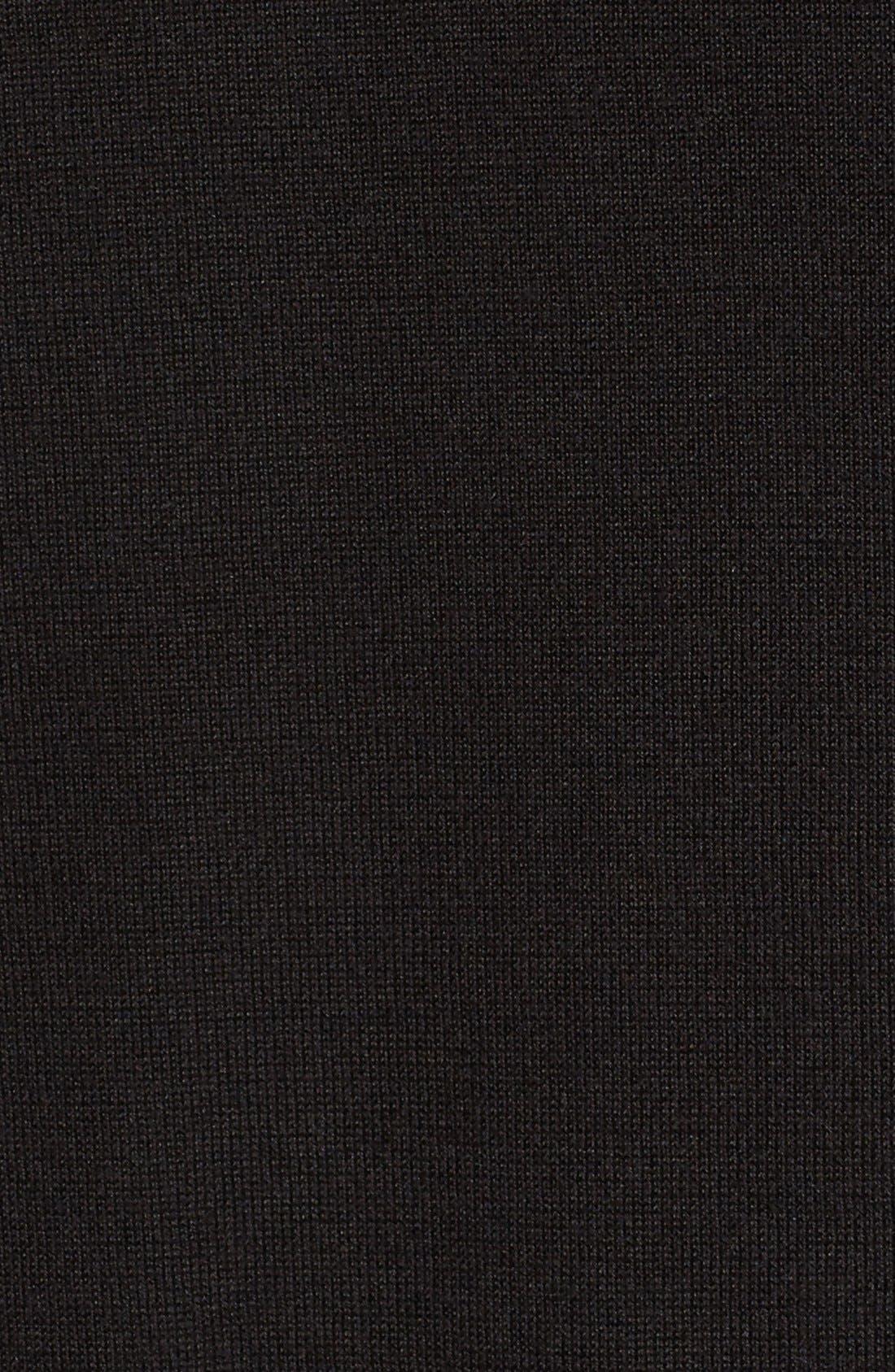 Lace Inset Cashmere Blend Cardigan,                             Alternate thumbnail 4, color,                             001