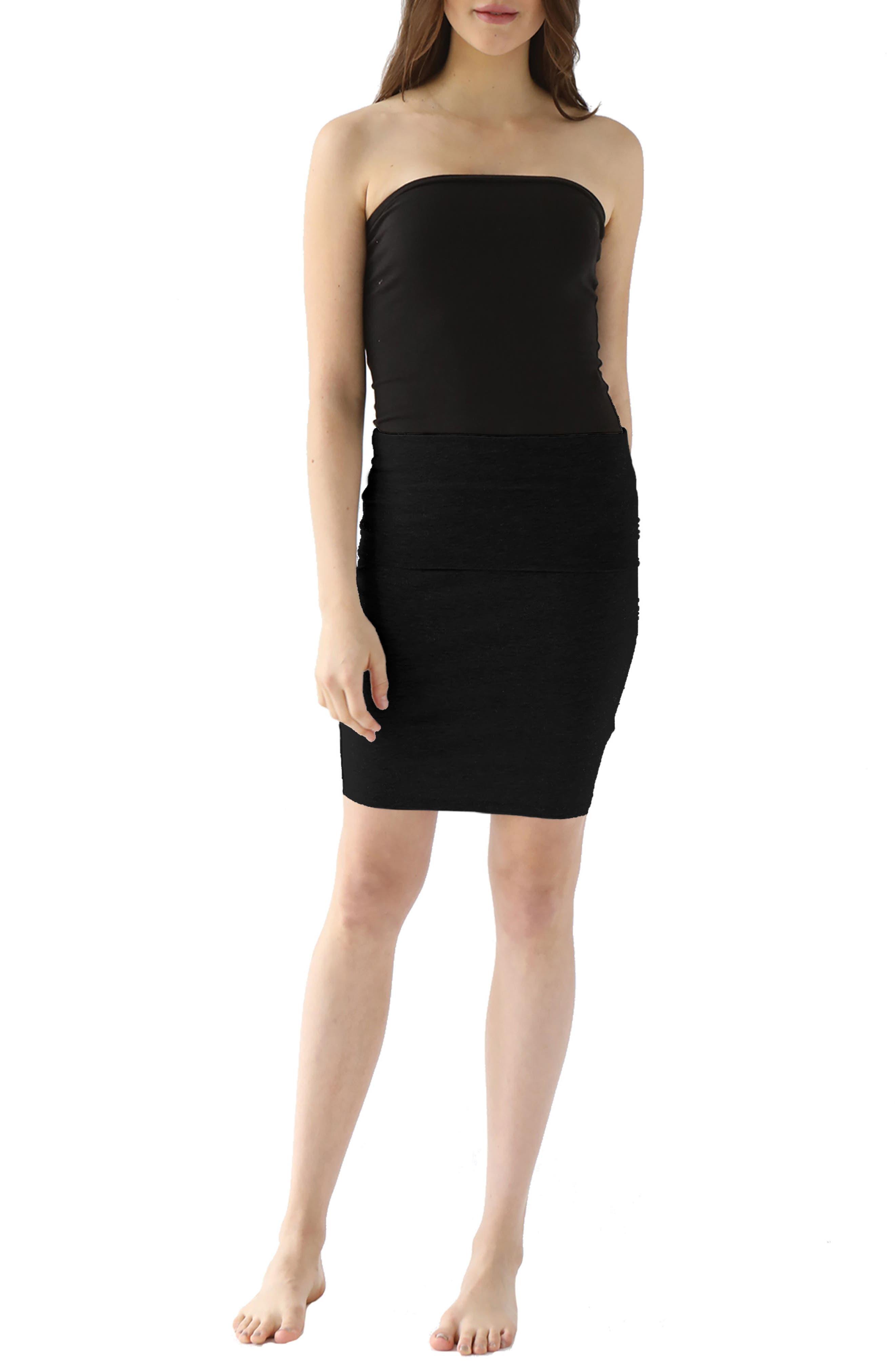 Trina Foldover Stretch Cotton Skirt,                             Main thumbnail 1, color,