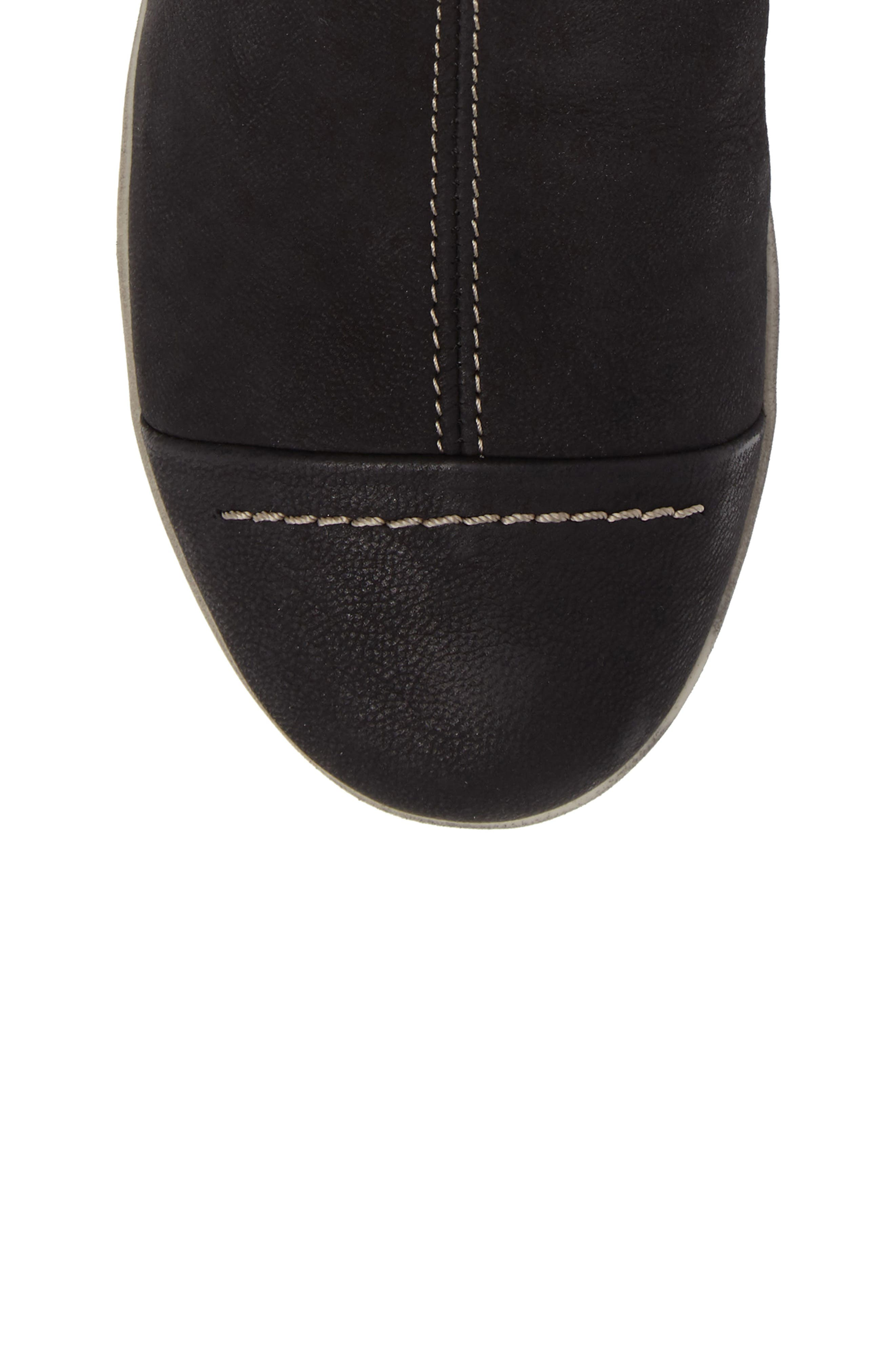 Aline Fantasy Wool Liked Boot,                             Alternate thumbnail 5, color,                             BLACK LEATHER