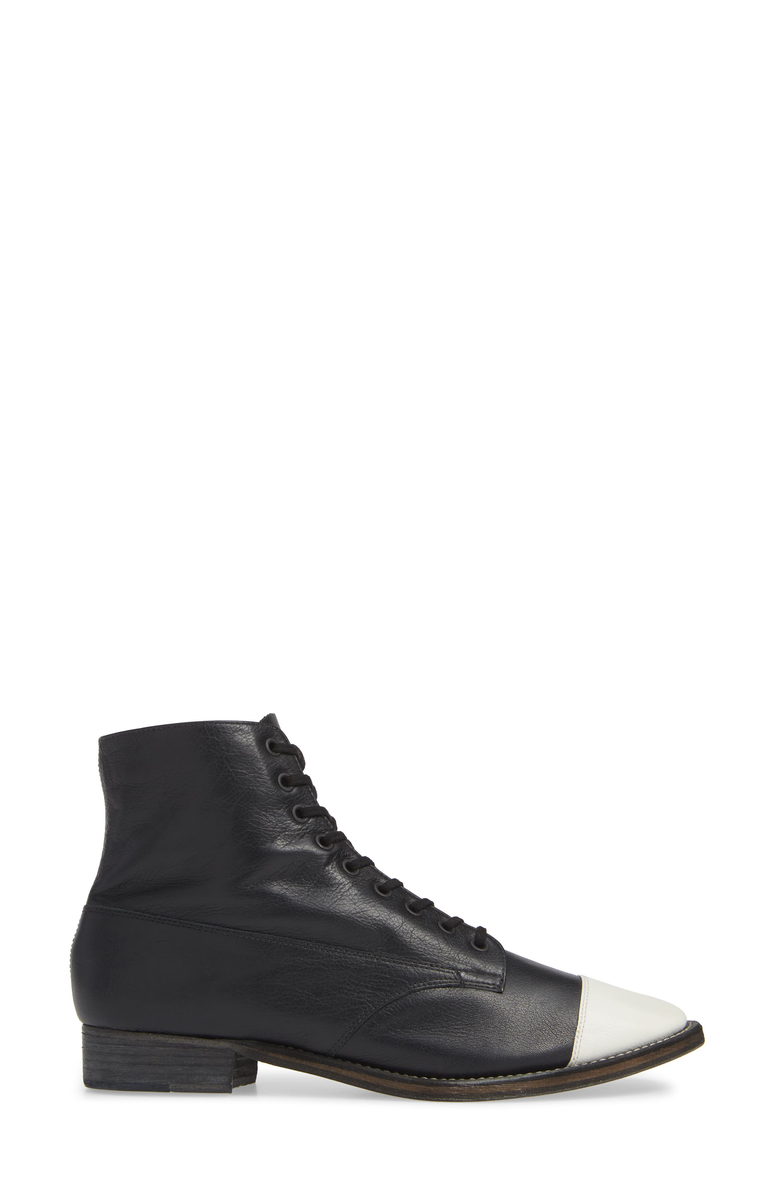 Boxcar Cap-Toe Boot,                             Alternate thumbnail 3, color,                             BLACK