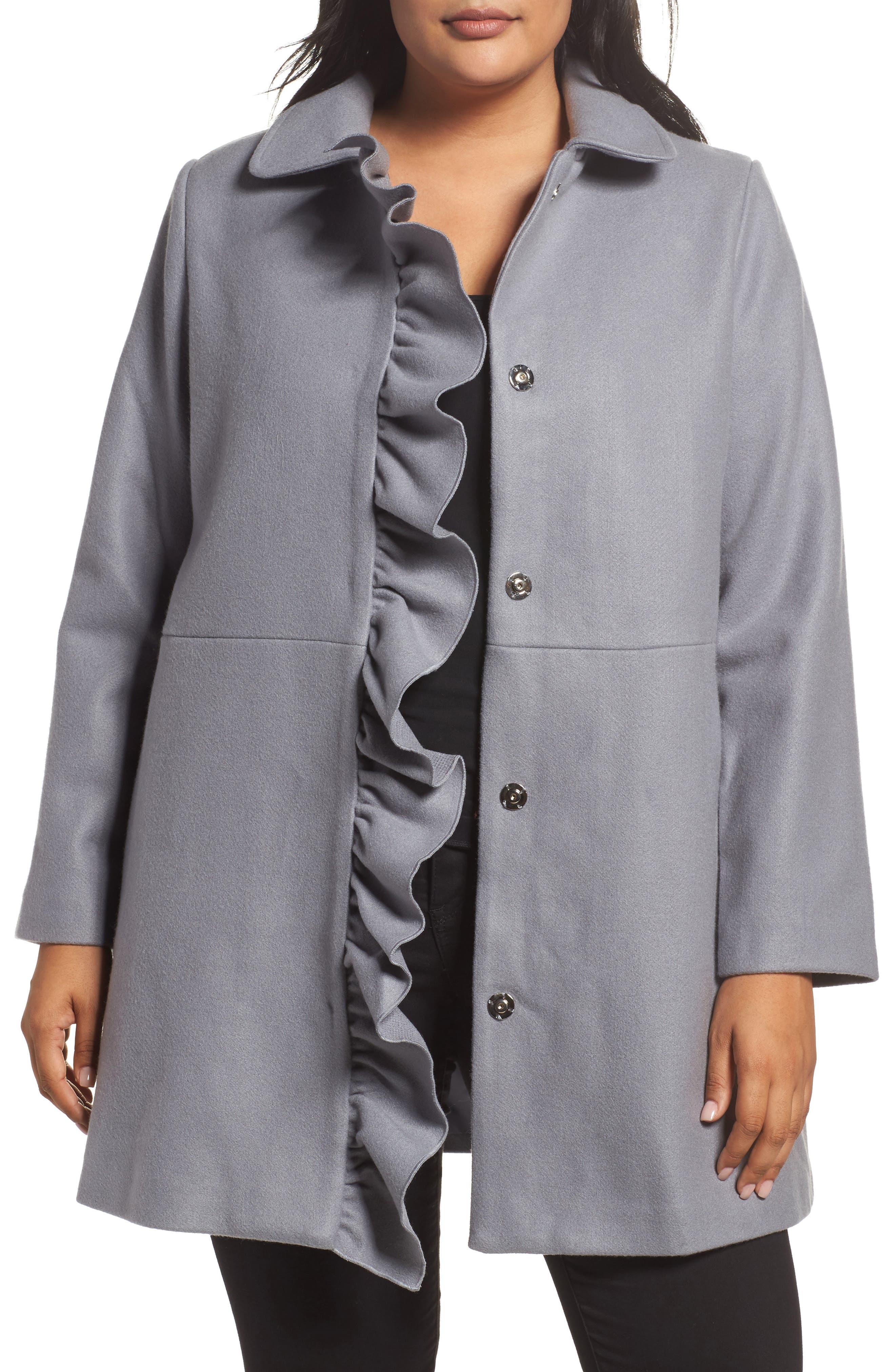 Frill Car Coat,                         Main,                         color, 400