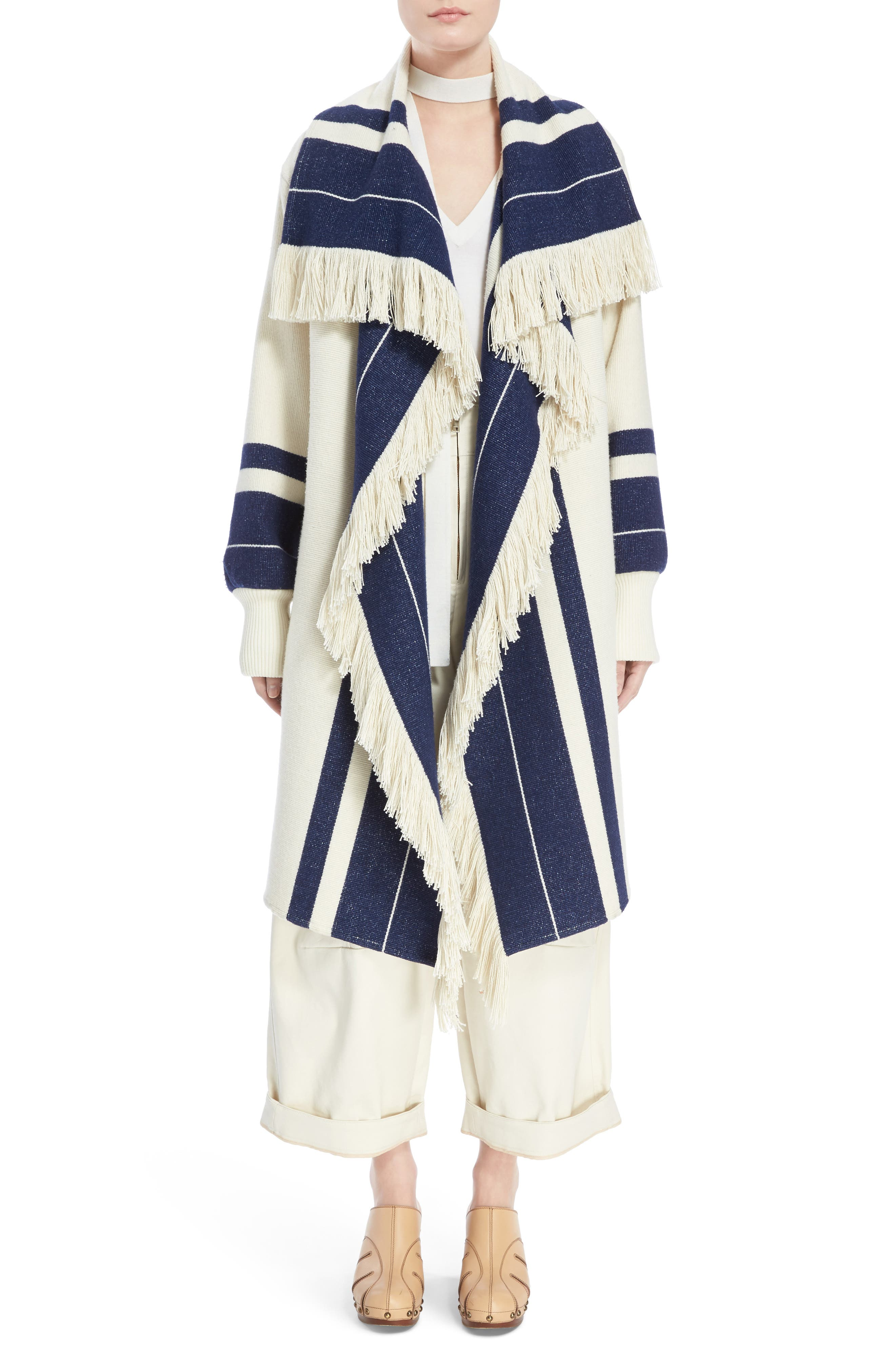 Stripe Blanket Coat,                             Alternate thumbnail 6, color,