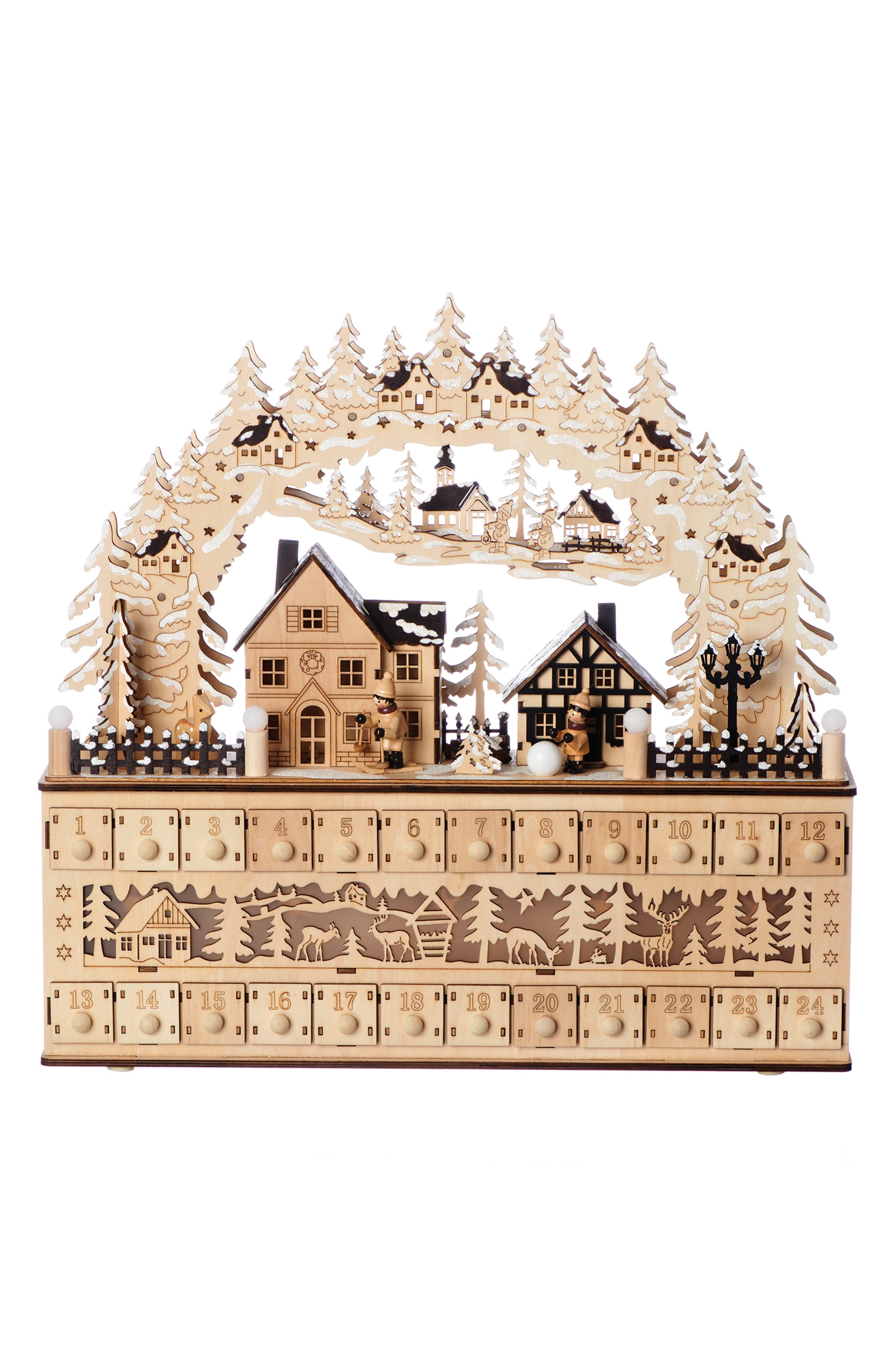 ROMAN,                             LED Advent Countdown Village Decoration,                             Main thumbnail 1, color,                             200