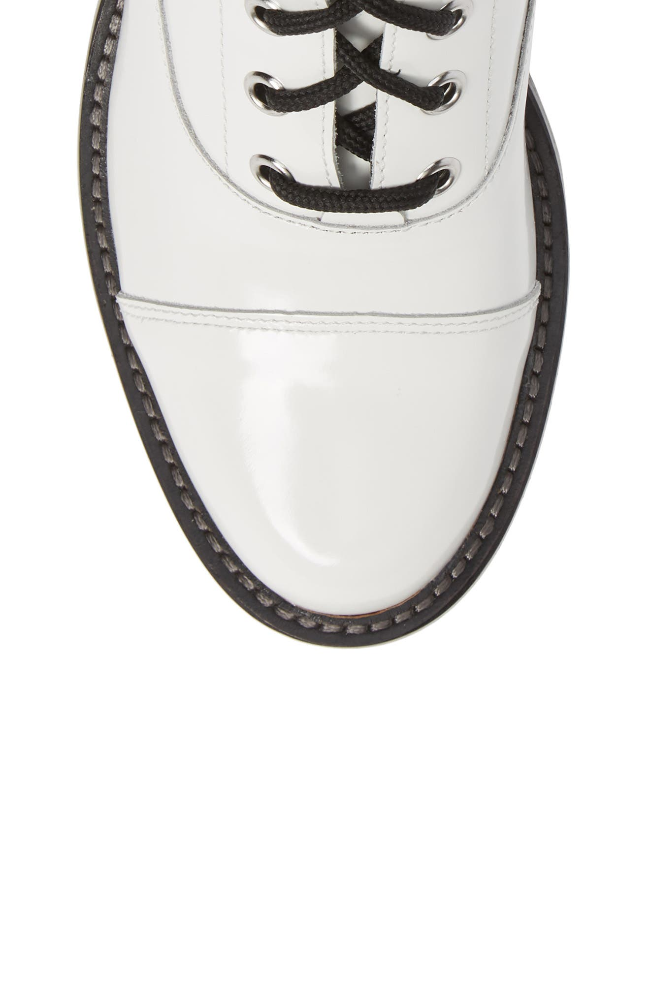 Wanya Boot,                             Alternate thumbnail 5, color,                             WHITE LEATHER