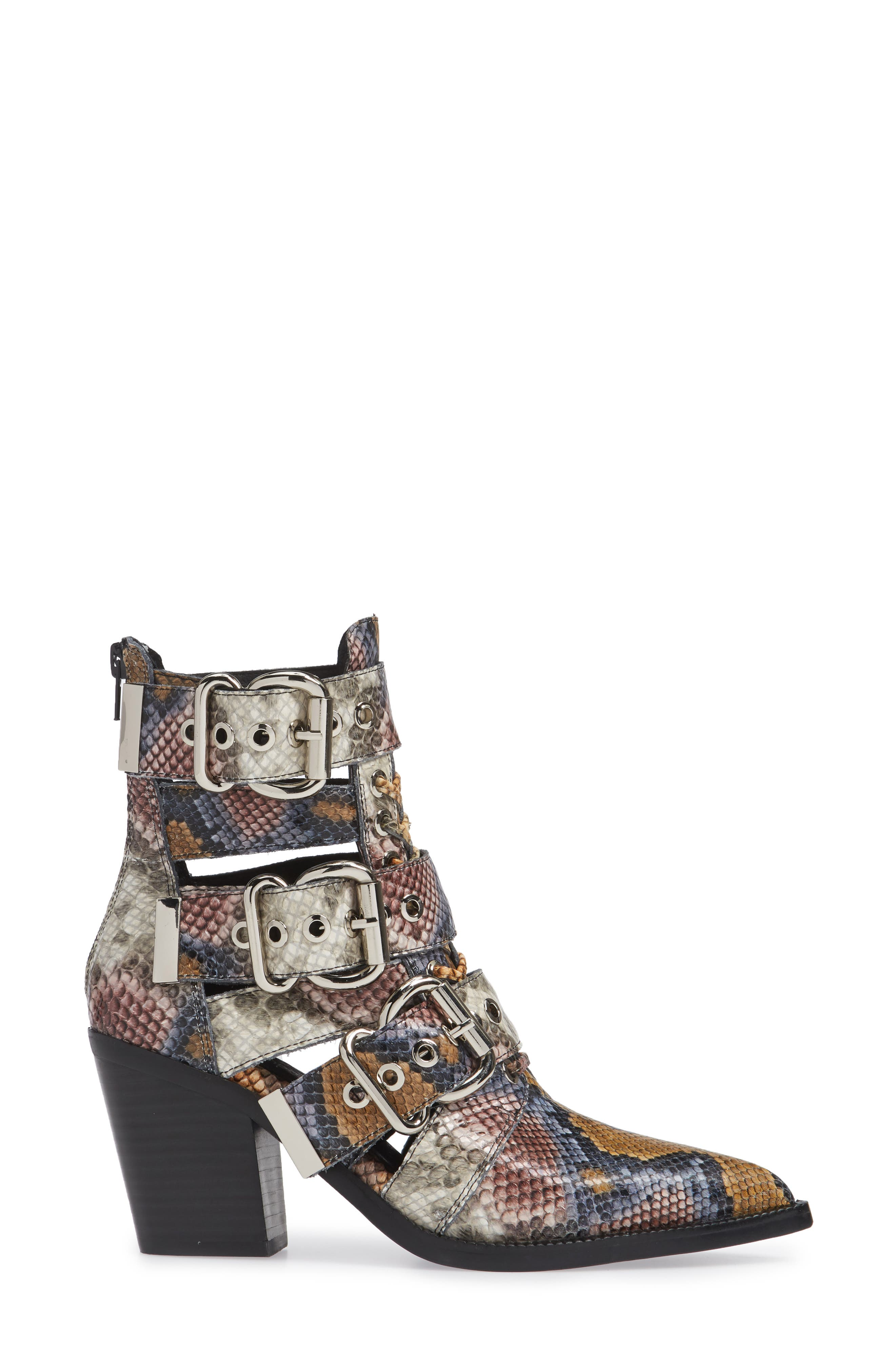 Caceres Bootie,                             Alternate thumbnail 3, color,                             GREY WINE SNAKE PRINT