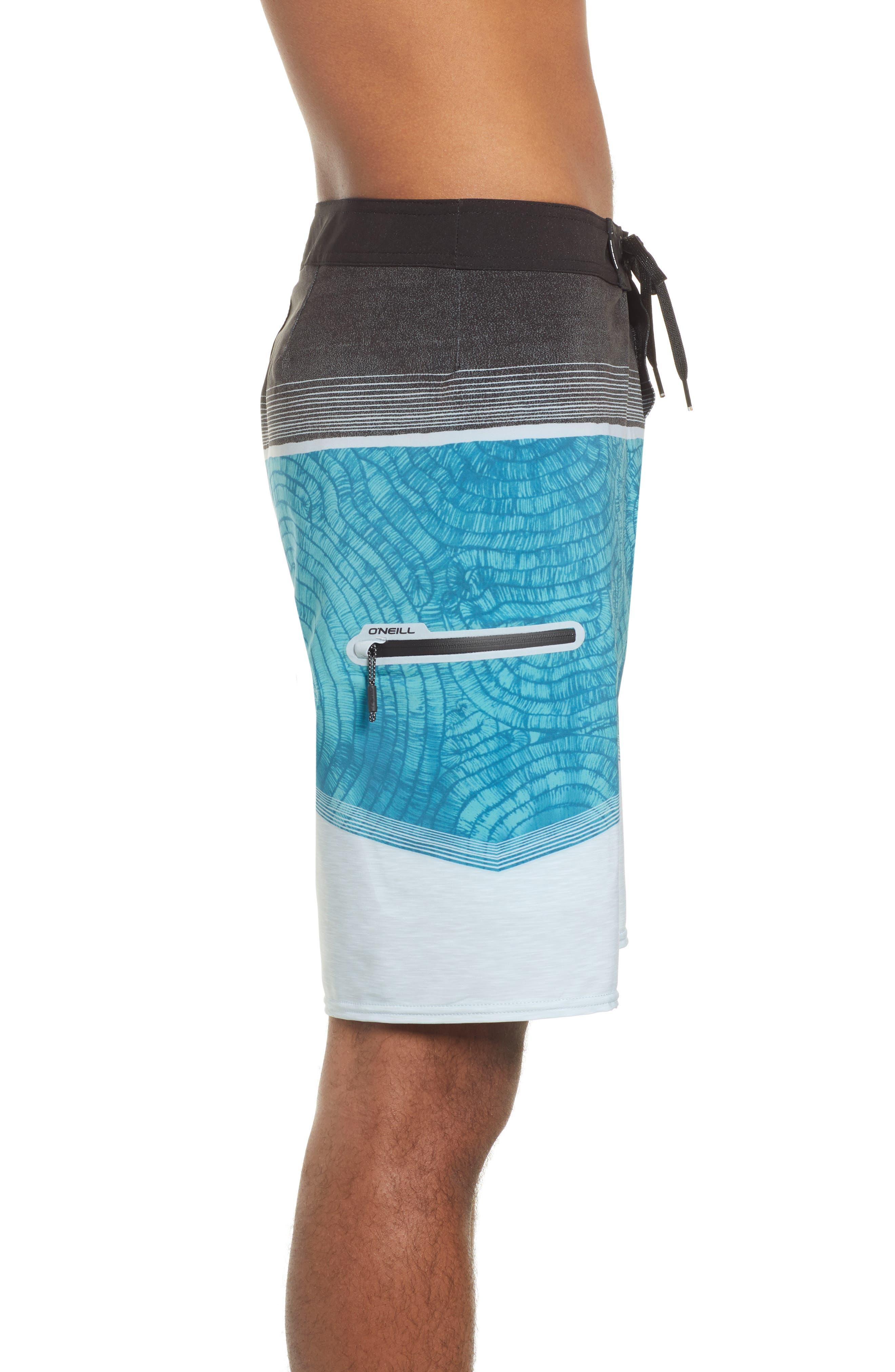 Hyperfreak Board Shorts,                             Alternate thumbnail 3, color,                             TURQUOISE