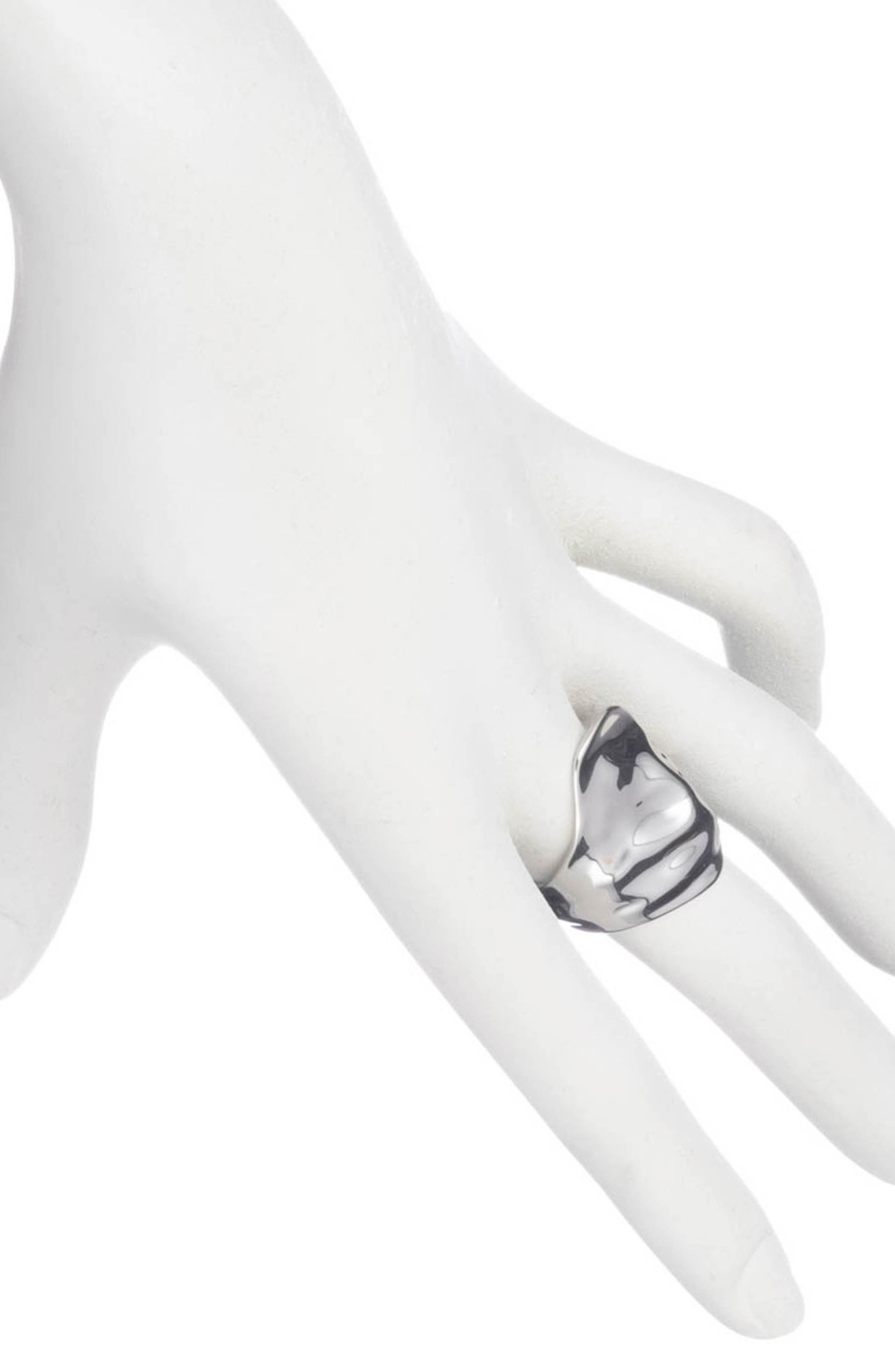 ALEXIS BITTAR,                             Crumpled Asymmetric Statement Ring,                             Alternate thumbnail 2, color,                             SILVER