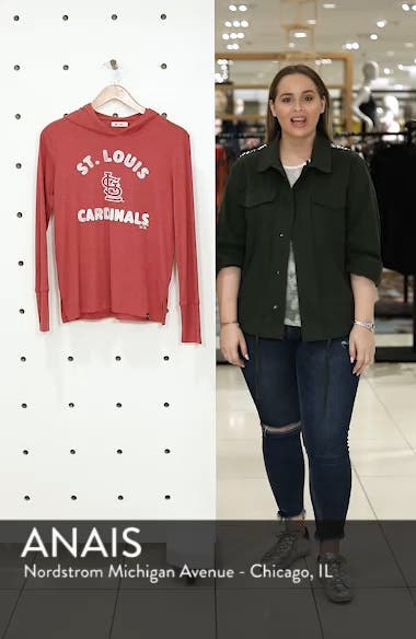 Campbell St. Louis Cardinals Rib Knit Hooded Top, sales video thumbnail