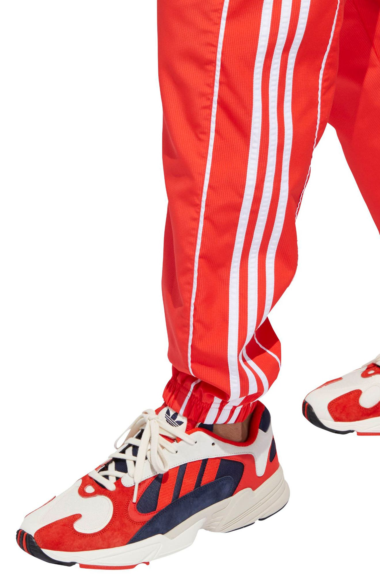 Authentics Ripstop Track Pants,                             Alternate thumbnail 4, color,                             HI-RES RED/ WHITE