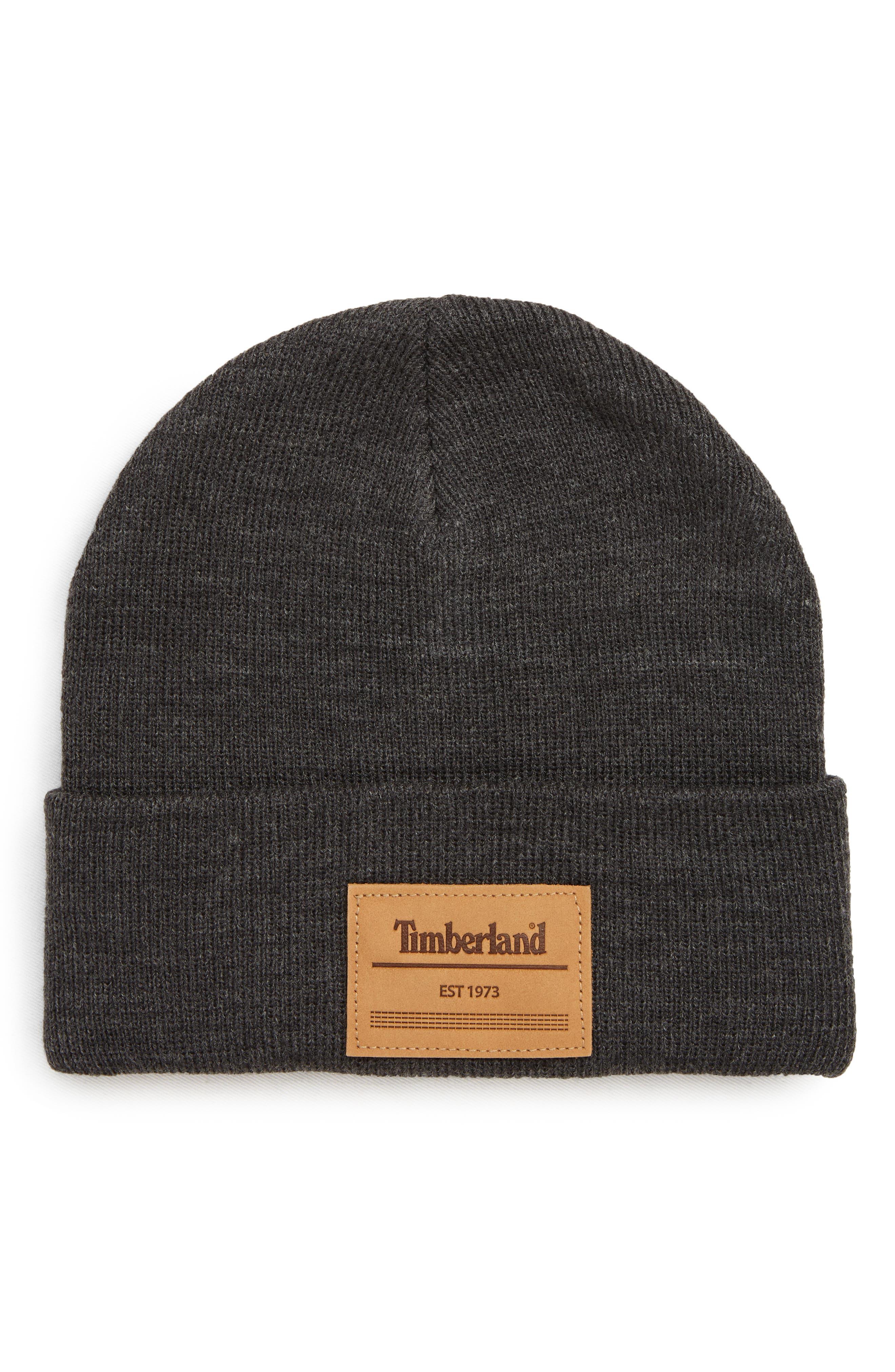 Timberland Watch Logo Patch Beanie - Grey