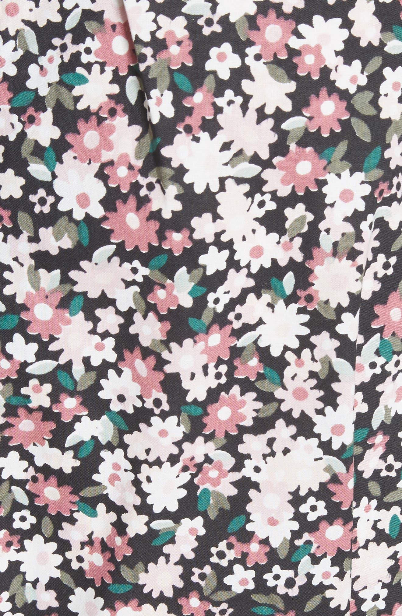 wildflower poplin dress,                             Alternate thumbnail 5, color,                             001