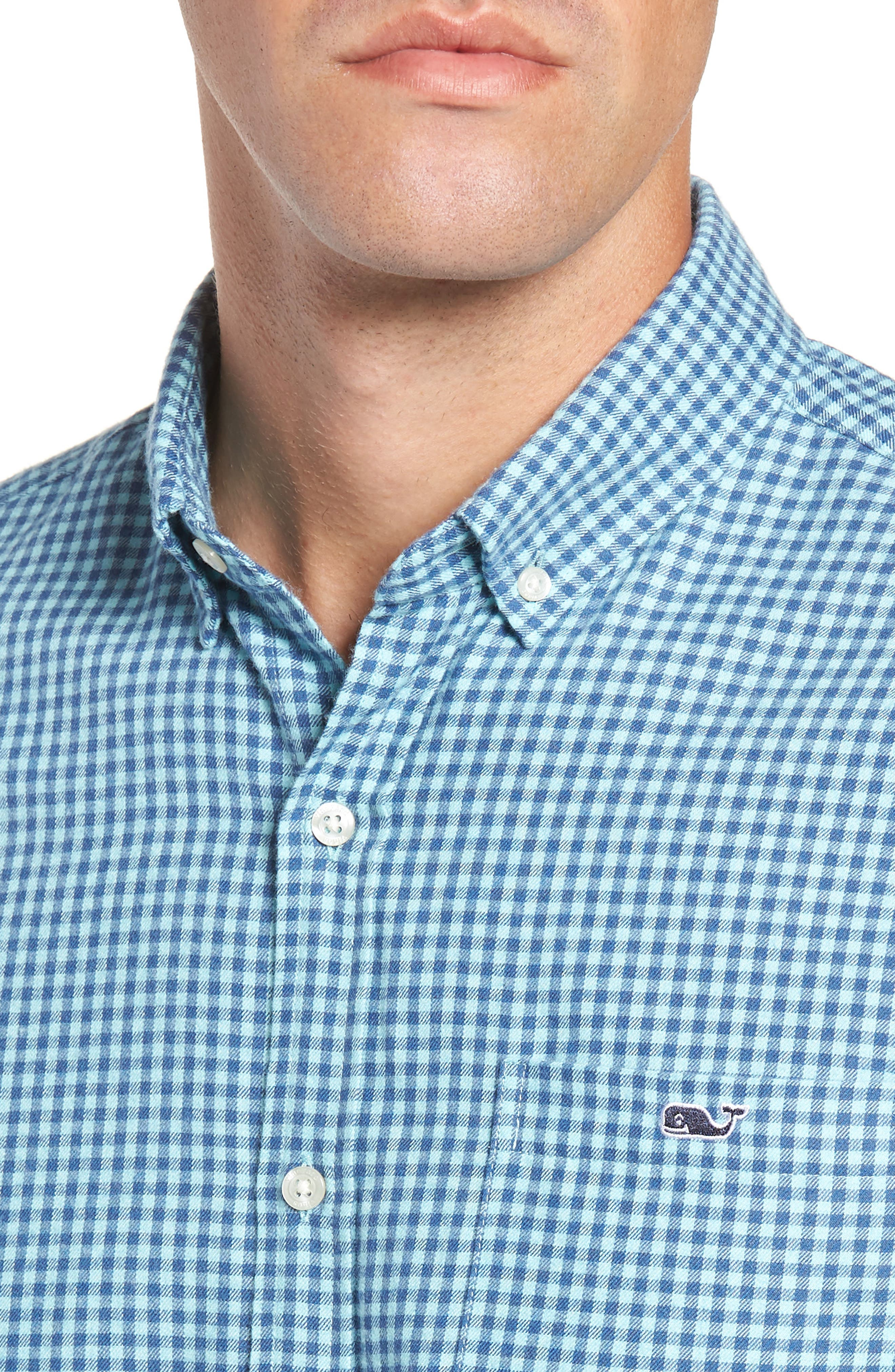 Tradewinds Slim Fit Check Flannel Shirt,                             Alternate thumbnail 2, color,                             POOL SIDE