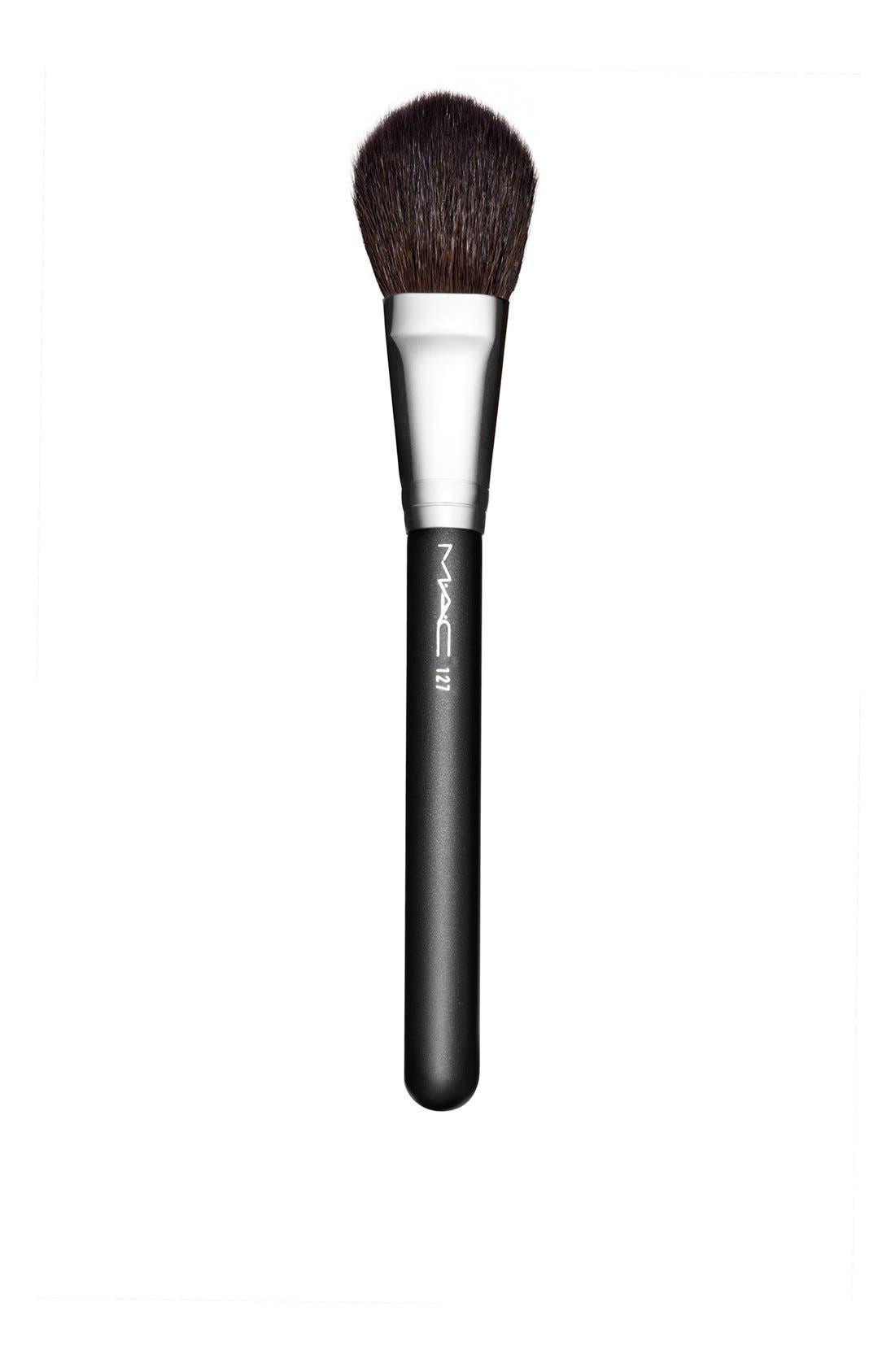 MAC 127 Split Fibre Face Brush,                             Main thumbnail 1, color,                             000