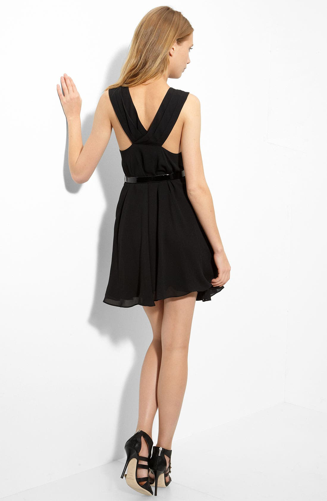 'Mackenzie' Silk Dress,                             Main thumbnail 1, color,                             001