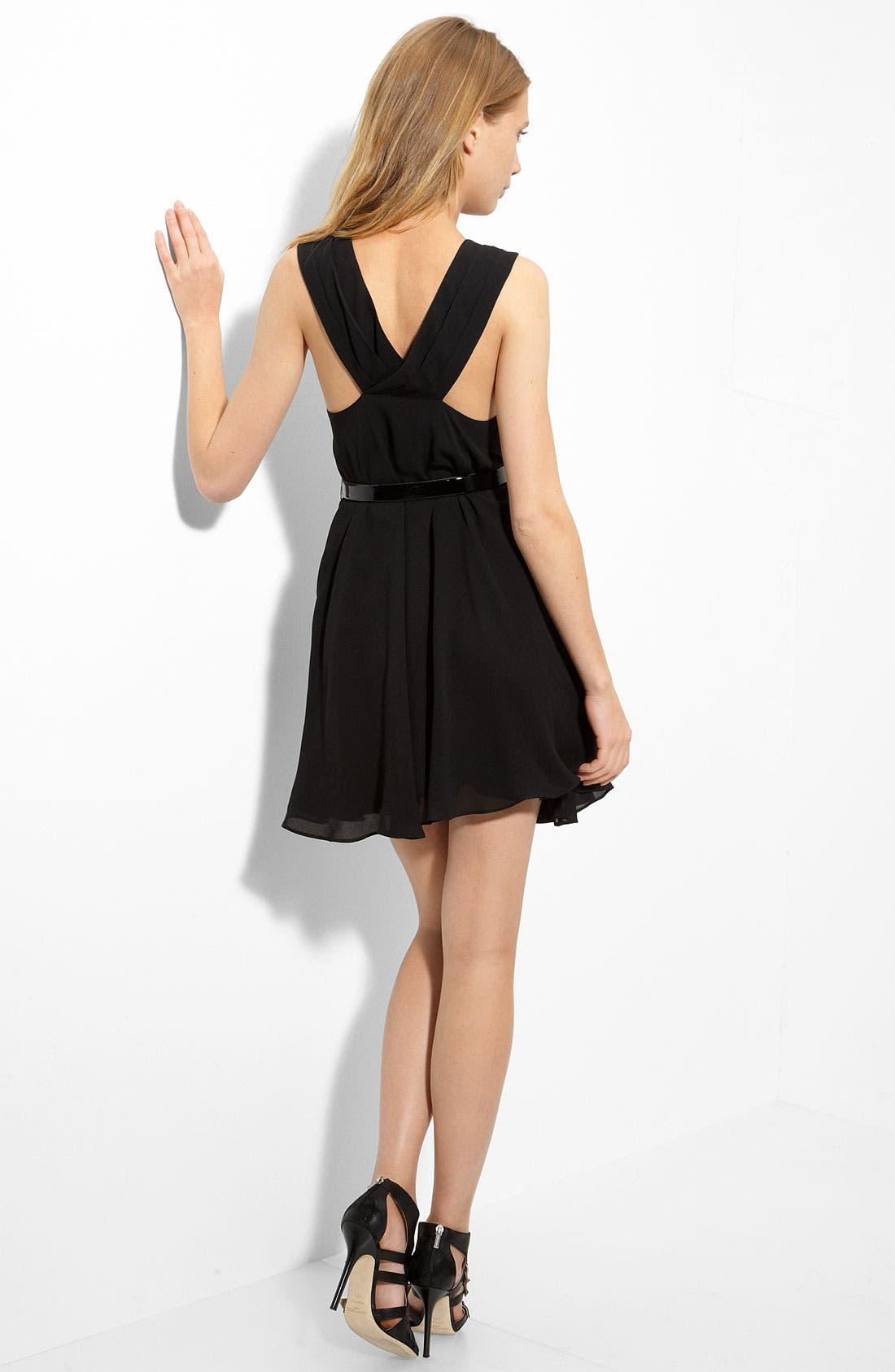 'Mackenzie' Silk Dress,                         Main,                         color, 001