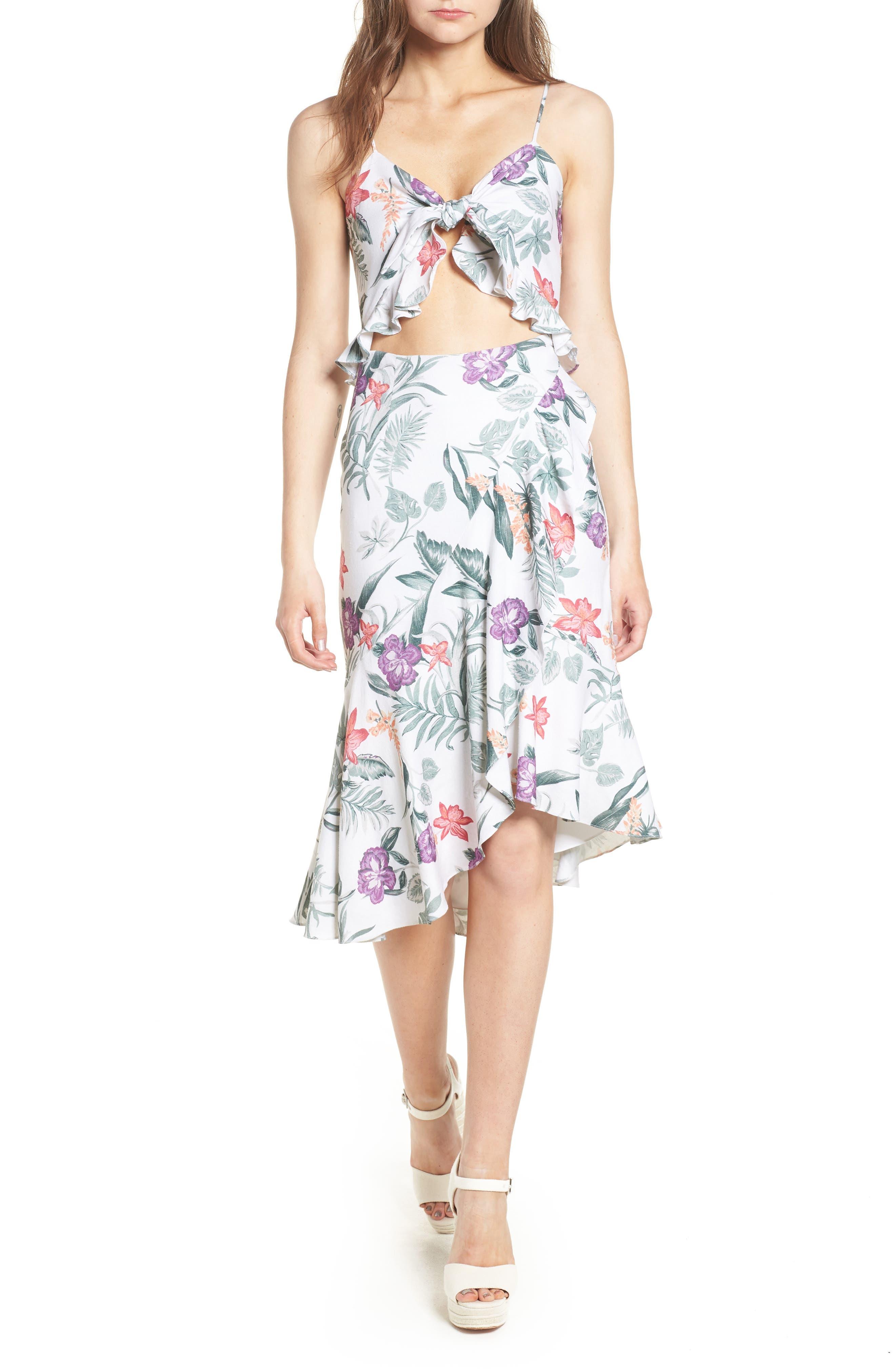 Mahari Cutout Midi Dress,                         Main,                         color, 900