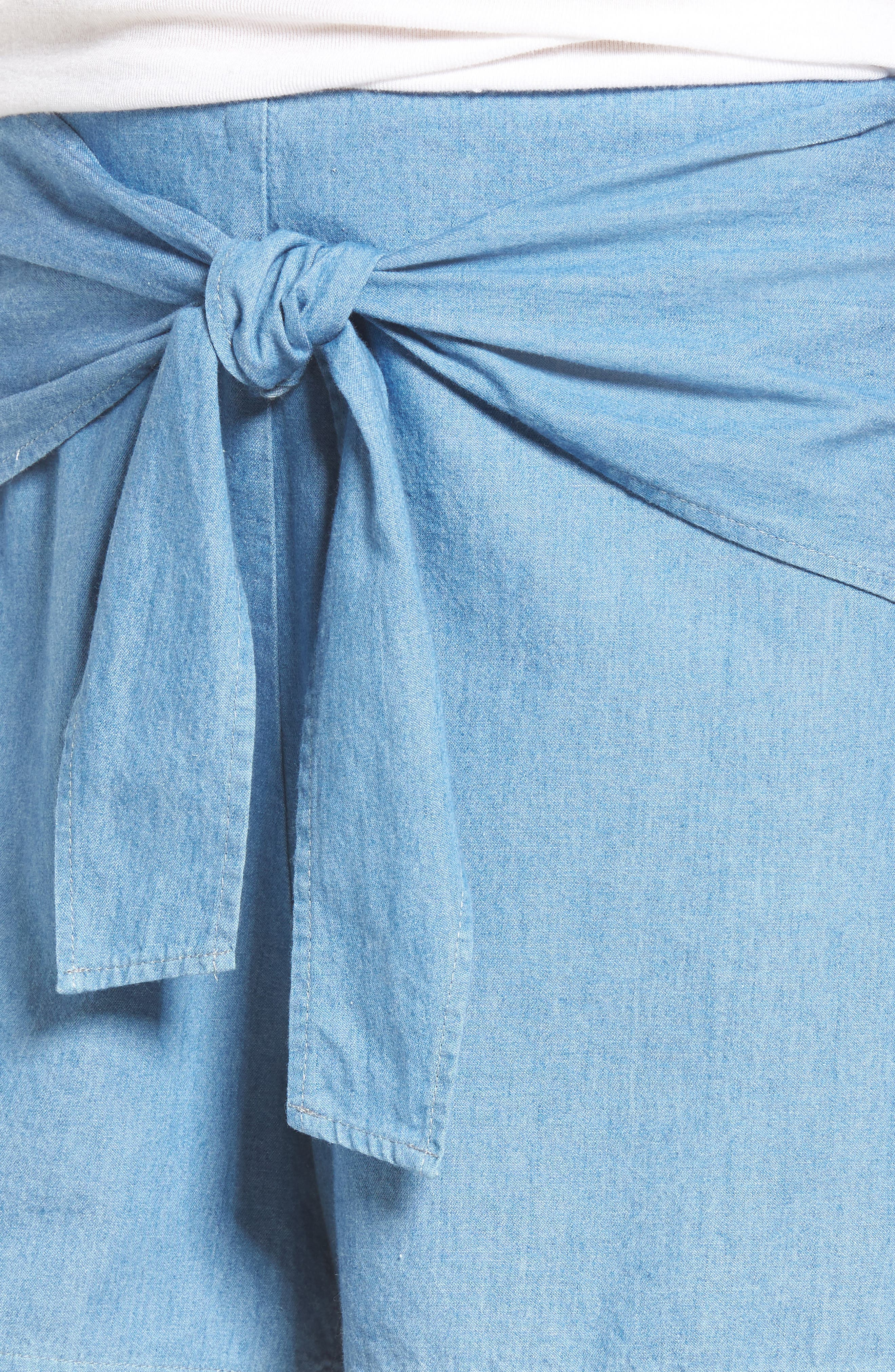 Tie Front Shorts,                             Alternate thumbnail 4, color,                             400