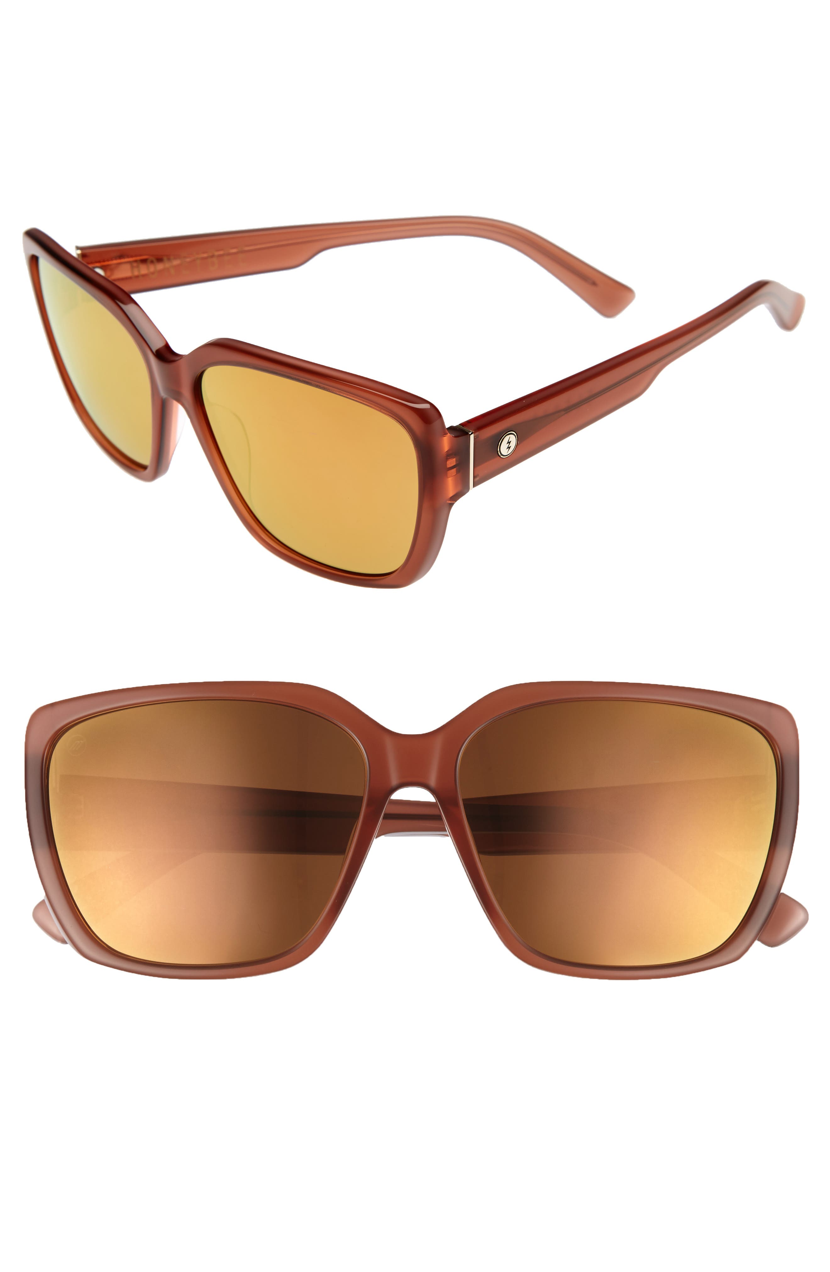 Honey Bee 60mm Mirrored Sunglasses,                             Main thumbnail 1, color,                             CALAFIA ROSE/ CHAMPAGNE