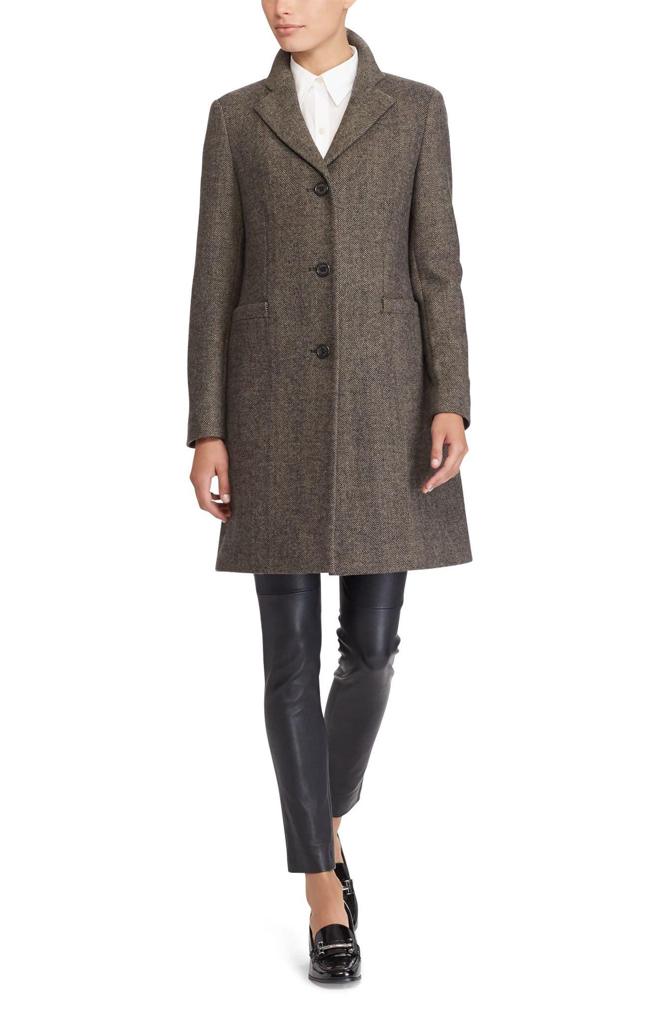 Wool Blend Reefer Coat,                             Alternate thumbnail 37, color,