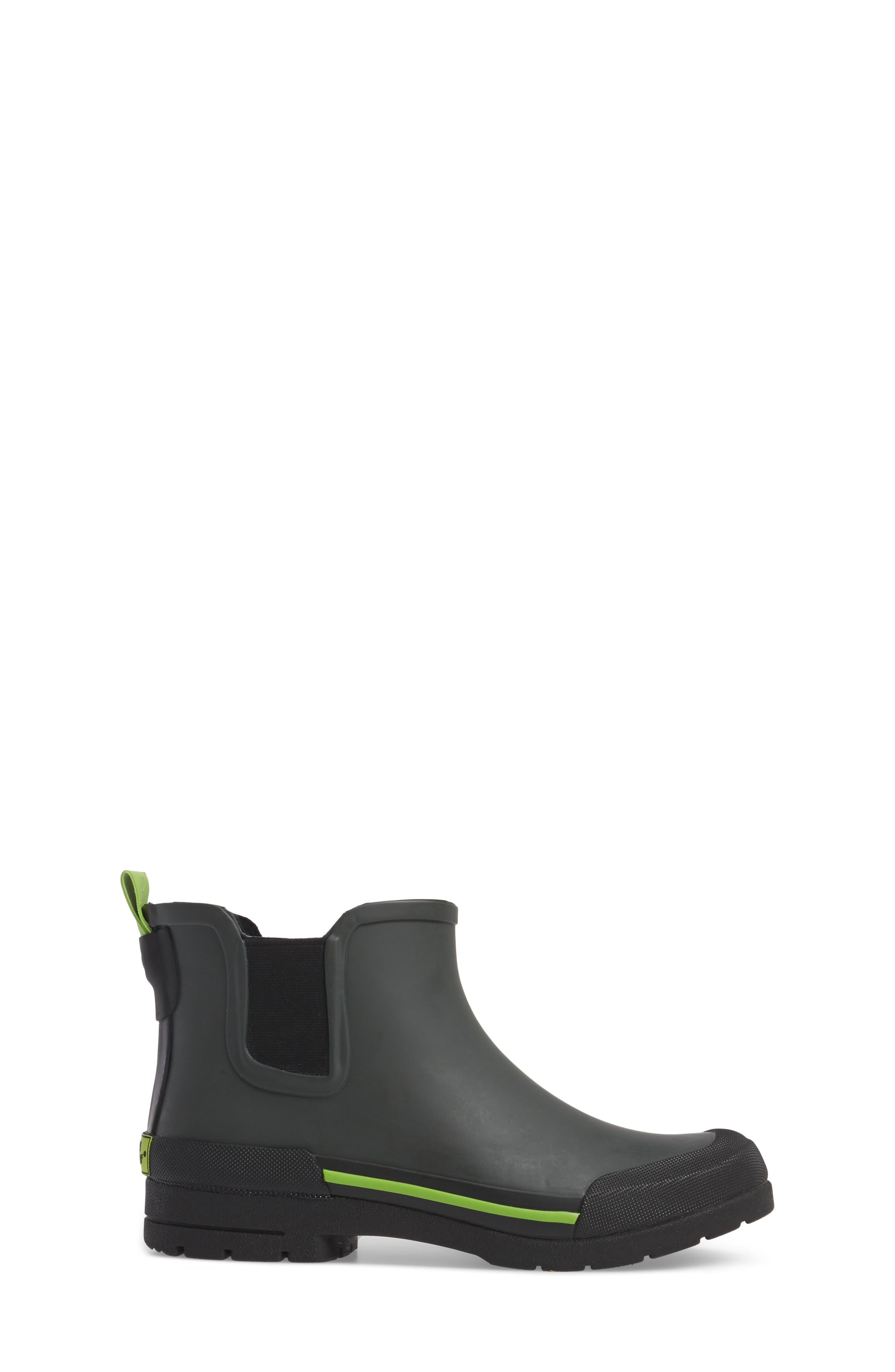 Classic Twin Gore Waterproof Rain Boot,                             Alternate thumbnail 3, color,                             CHARCOAL