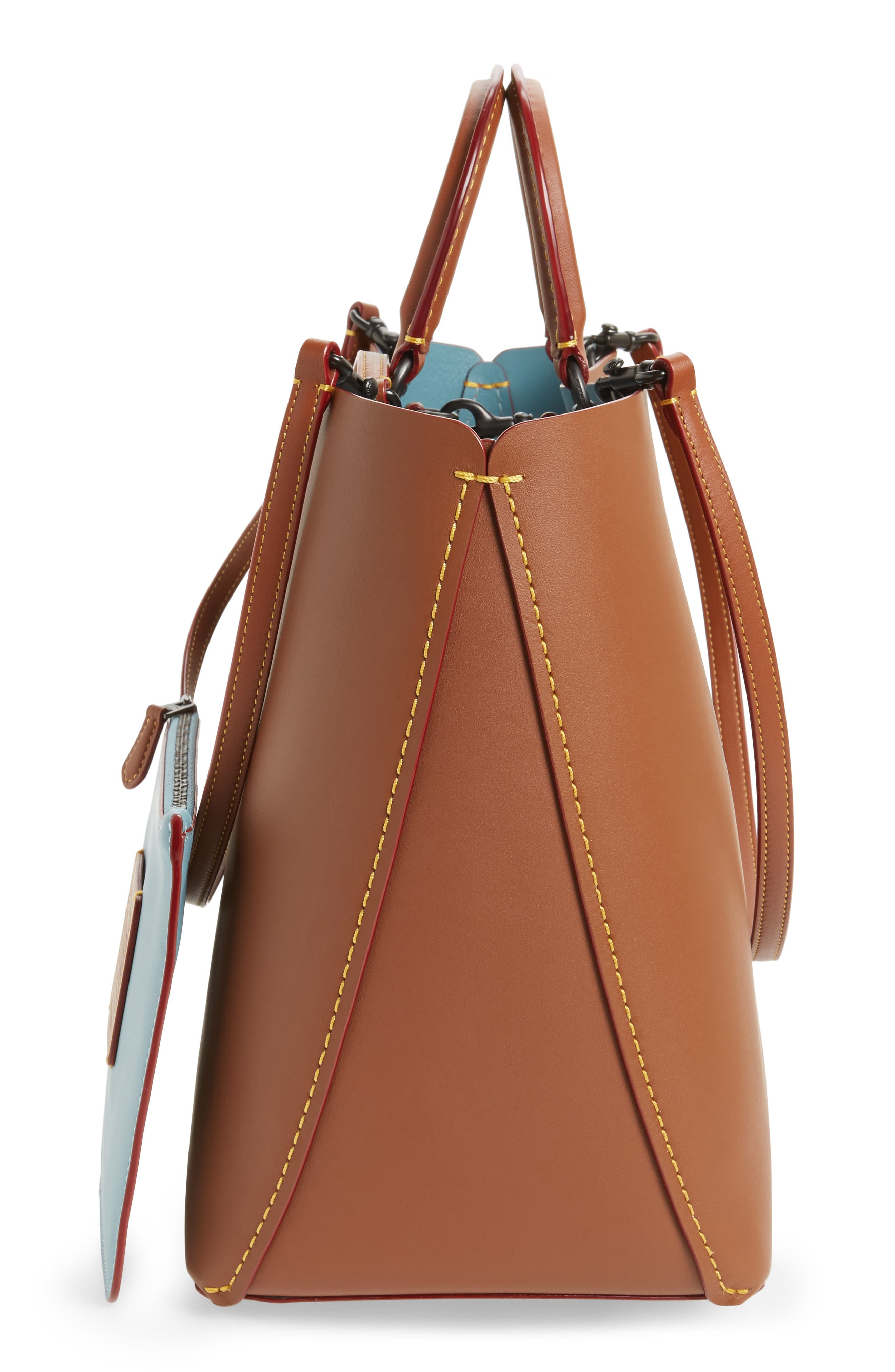 Rogue Leather Tote,                             Alternate thumbnail 5, color,                             232
