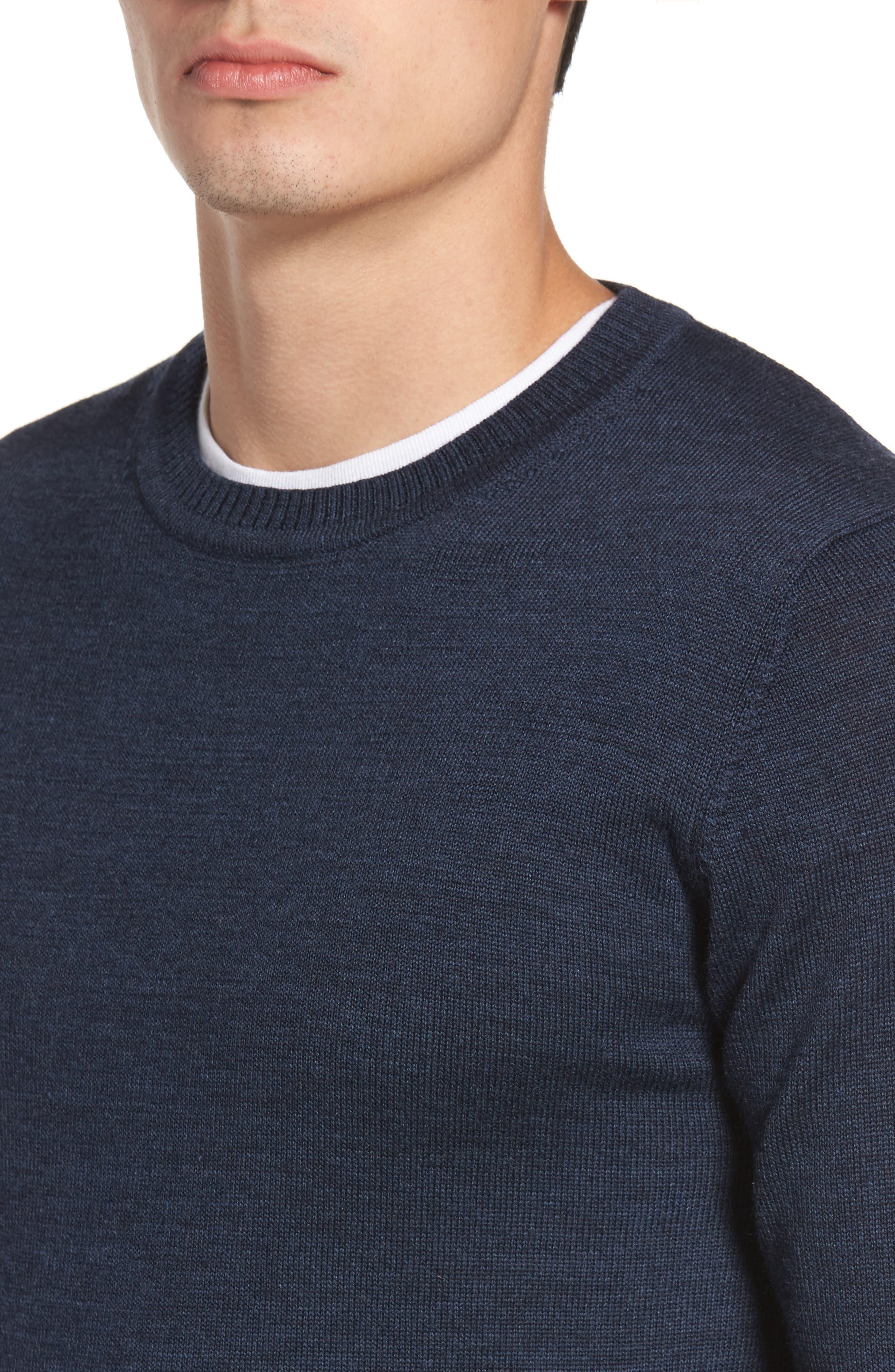 Bannockburn Mélange Merino Wool Sweater,                             Alternate thumbnail 4, color,                             401