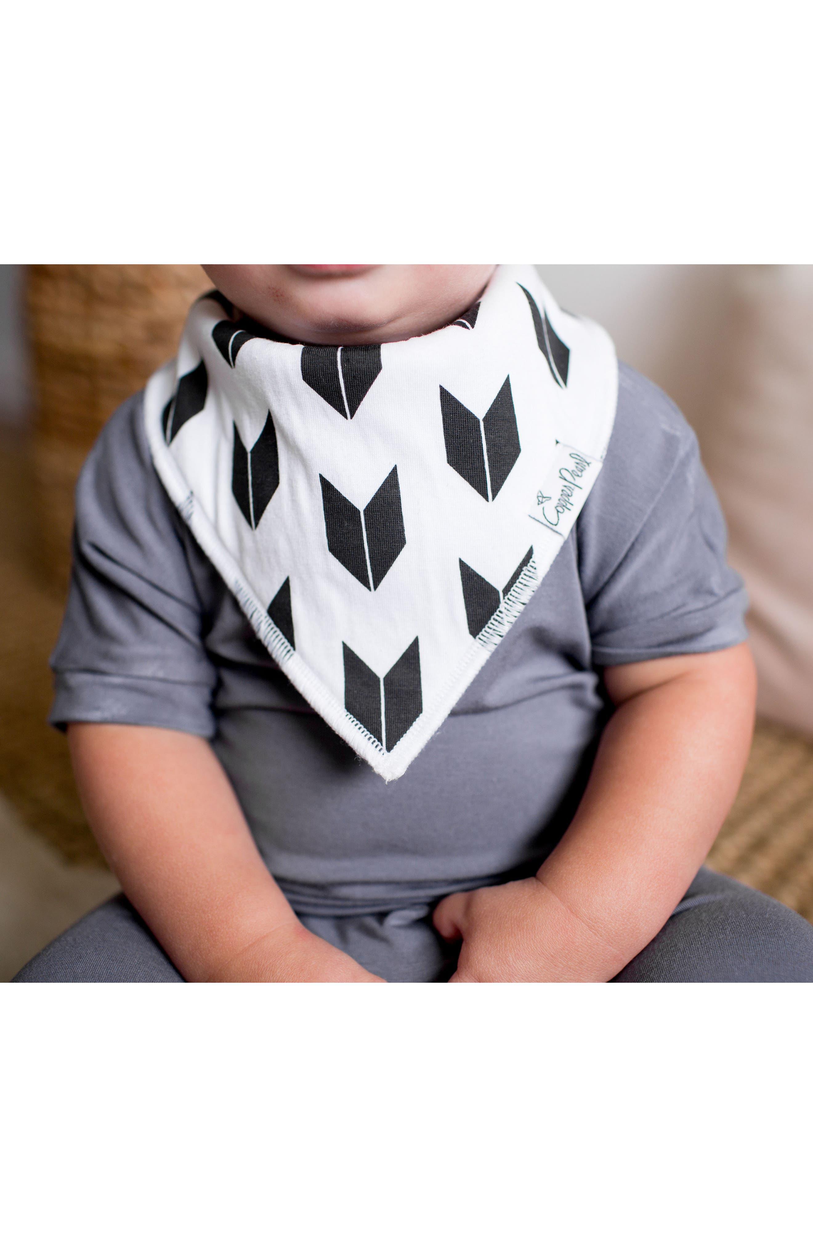Shade Bib, Burp Cloth & Swaddle Blanket Gift Set,                             Alternate thumbnail 4, color,                             SHADE
