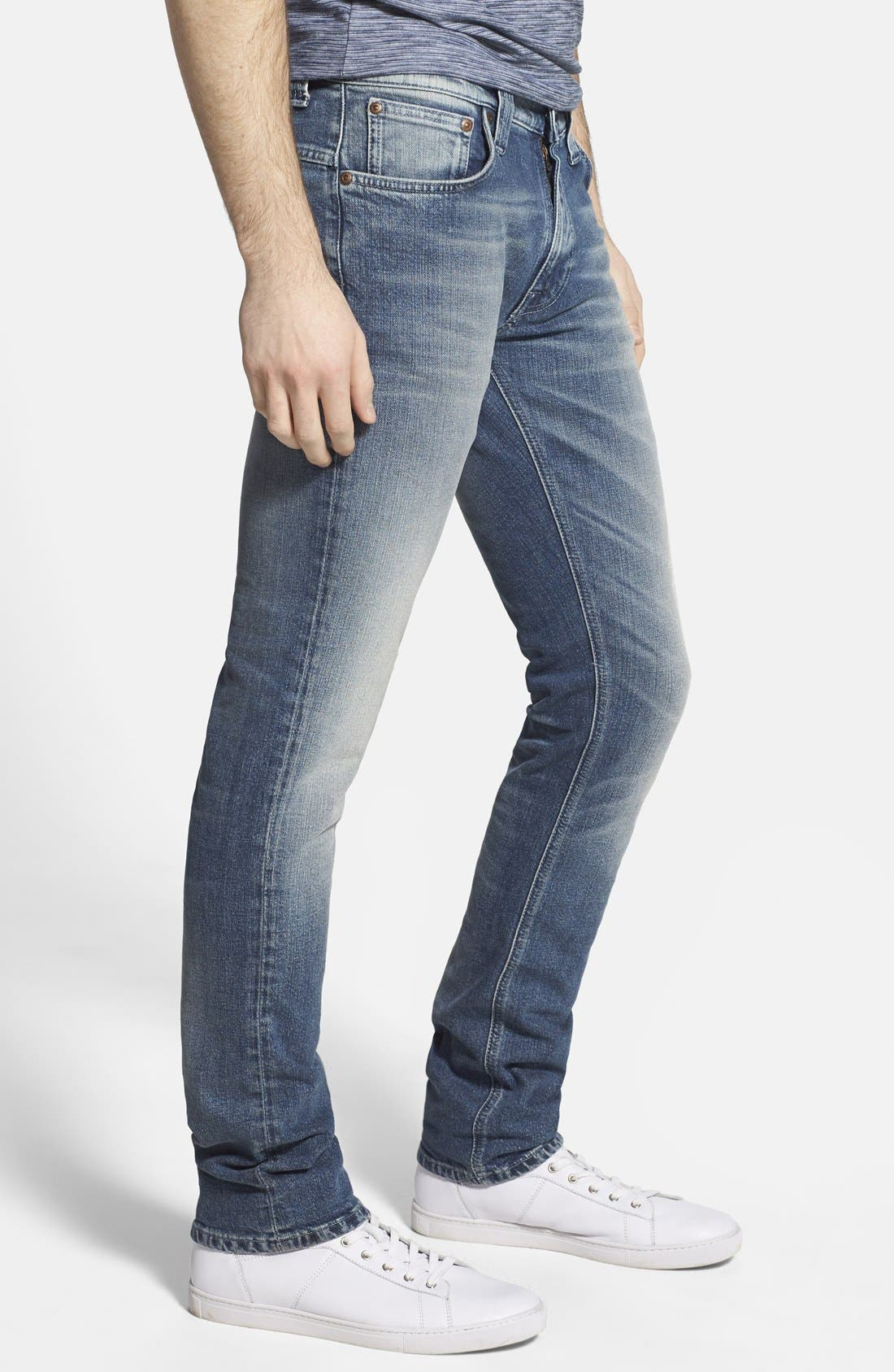 'Thin Finn' Skinny Fit Jeans,                             Alternate thumbnail 4, color,                             401