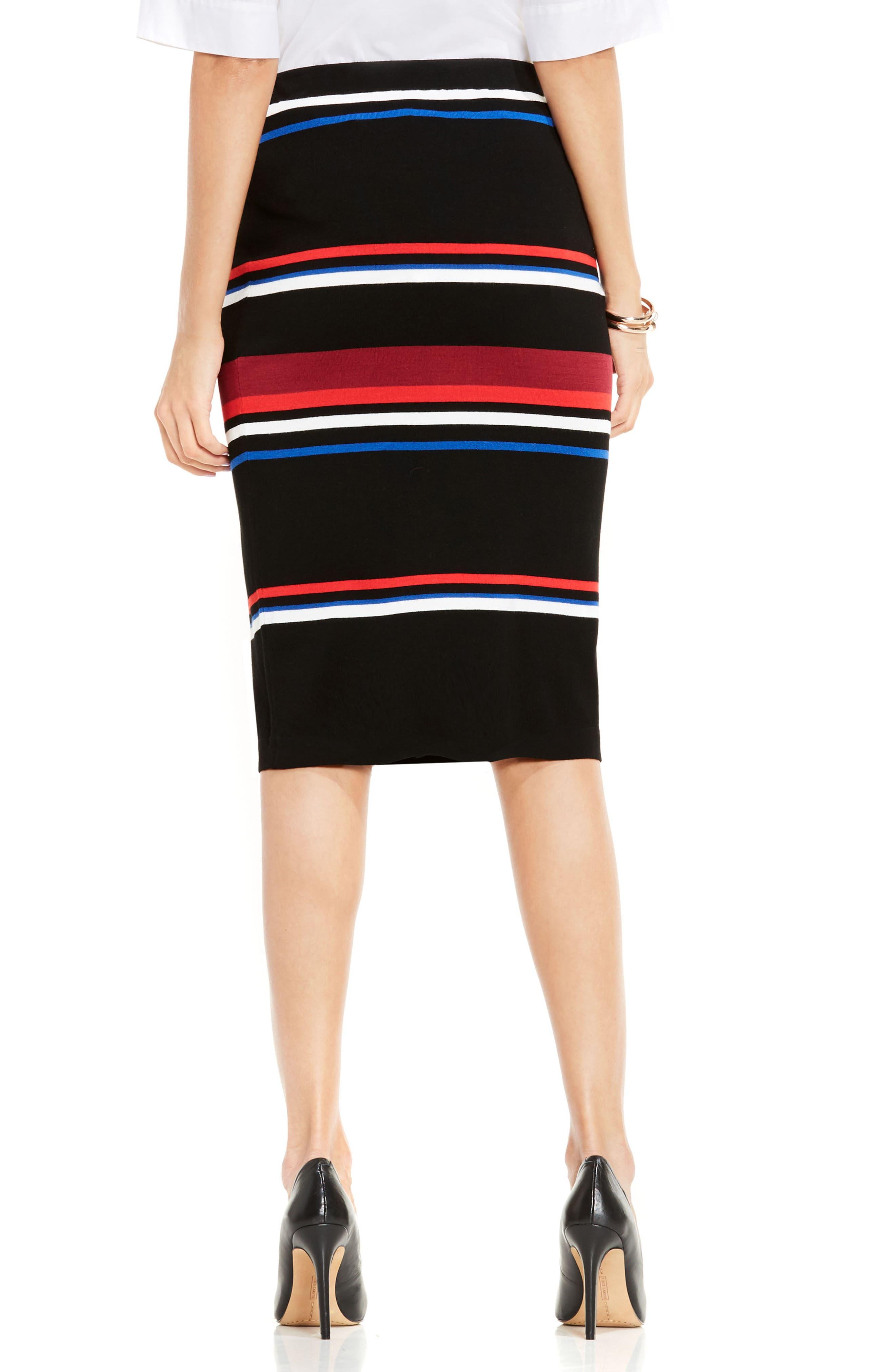 Stripe Pencil Skirt,                             Alternate thumbnail 2, color,                             006