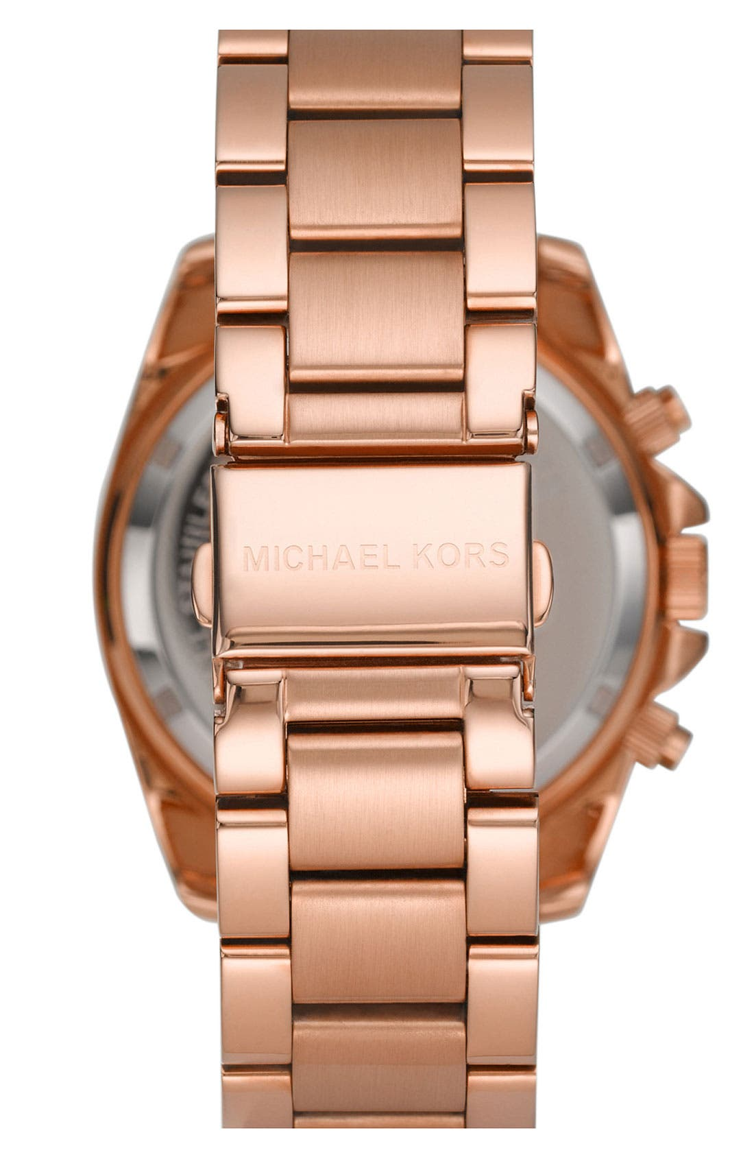 MICHAEL MICHAEL KORS,                             Michael Kors 'Runway' Rose Gold Plated Watch, 37mm,                             Alternate thumbnail 2, color,                             710