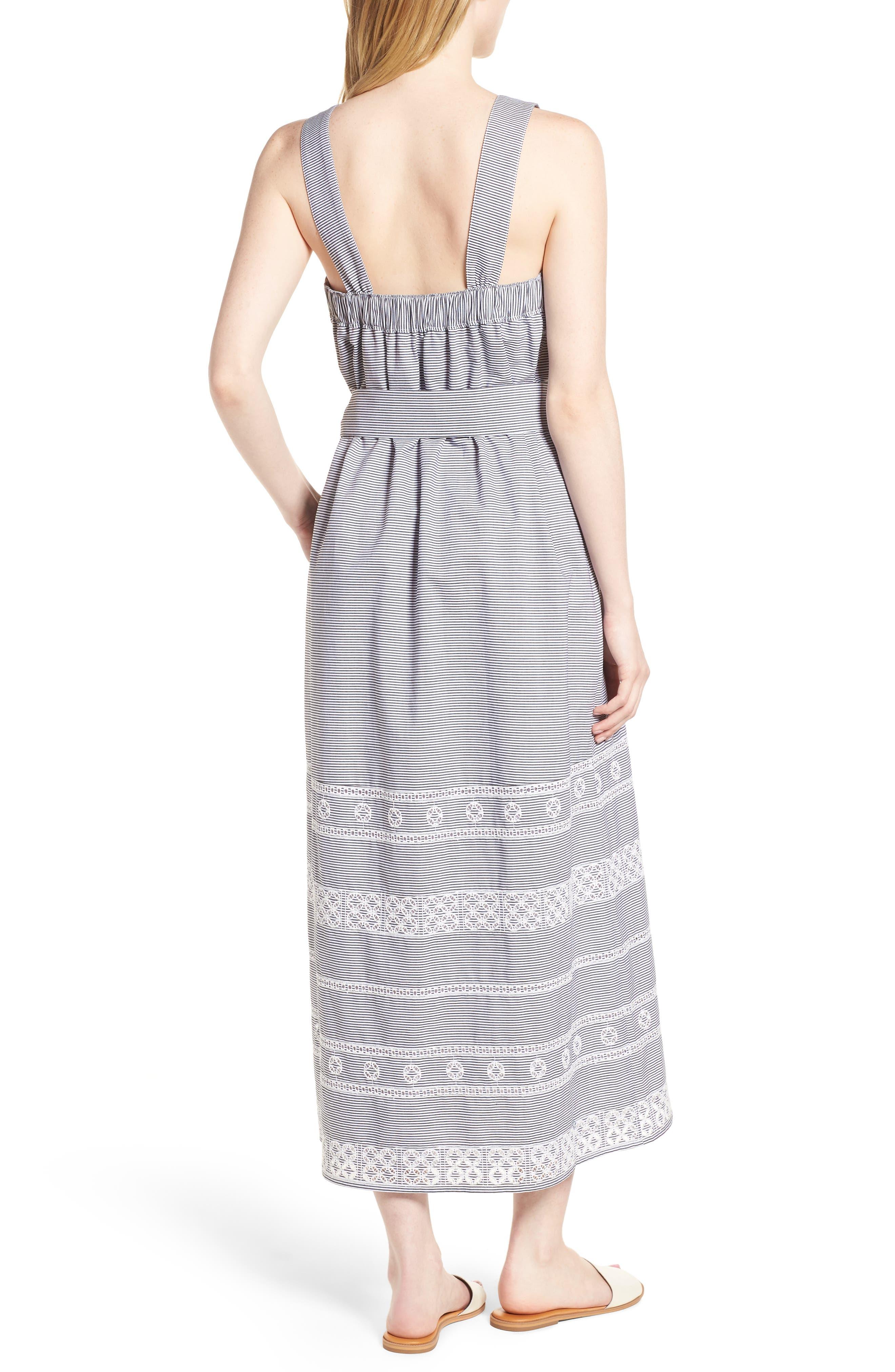 Striped Maxi Dress,                             Alternate thumbnail 2, color,                             002