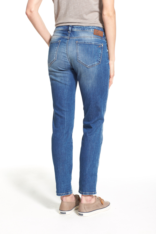 'Emma' Stretch Slim Boyfriend Jeans,                             Alternate thumbnail 4, color,                             420