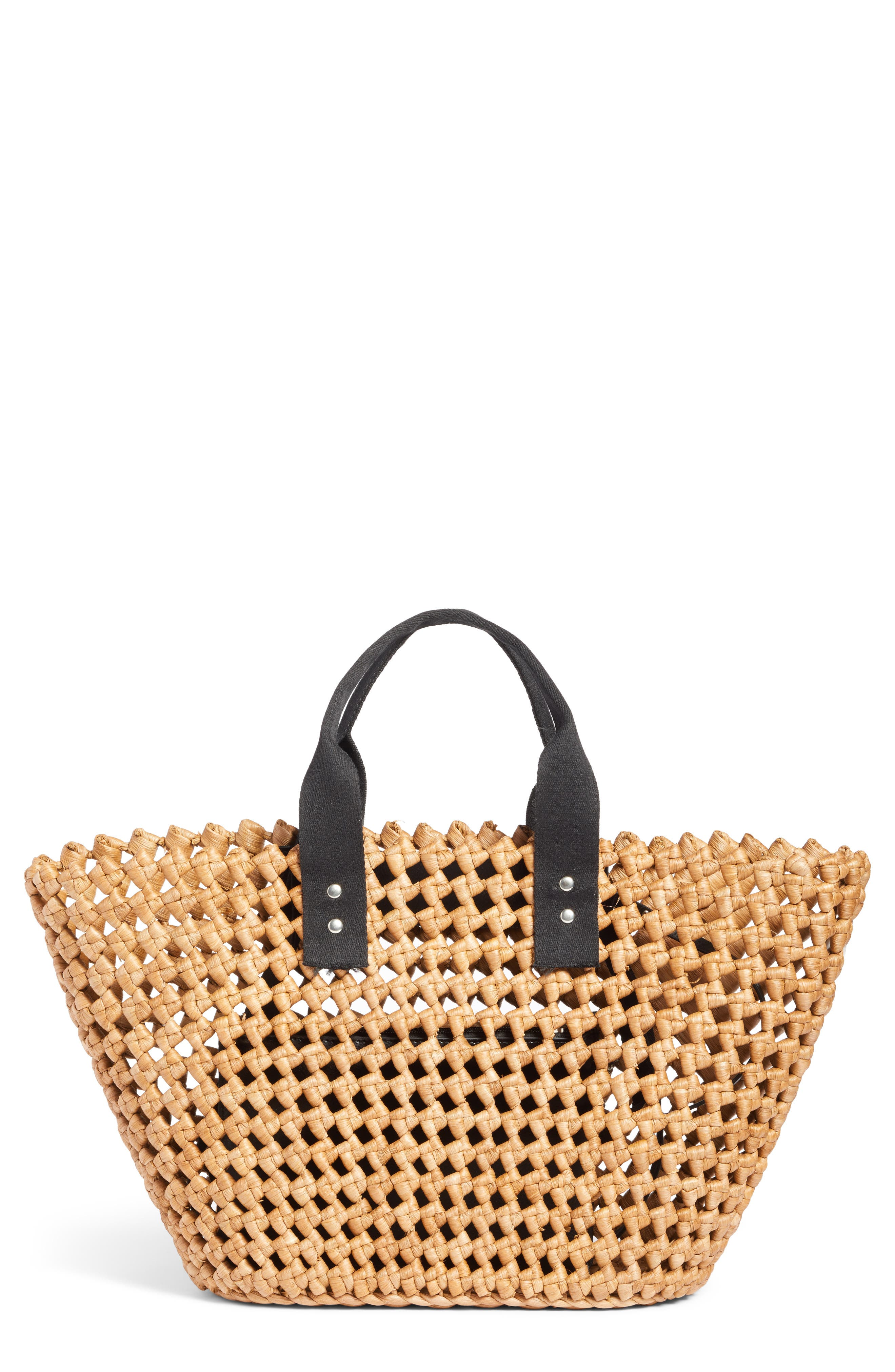 Open Weave Straw Tote,                         Main,                         color, 235