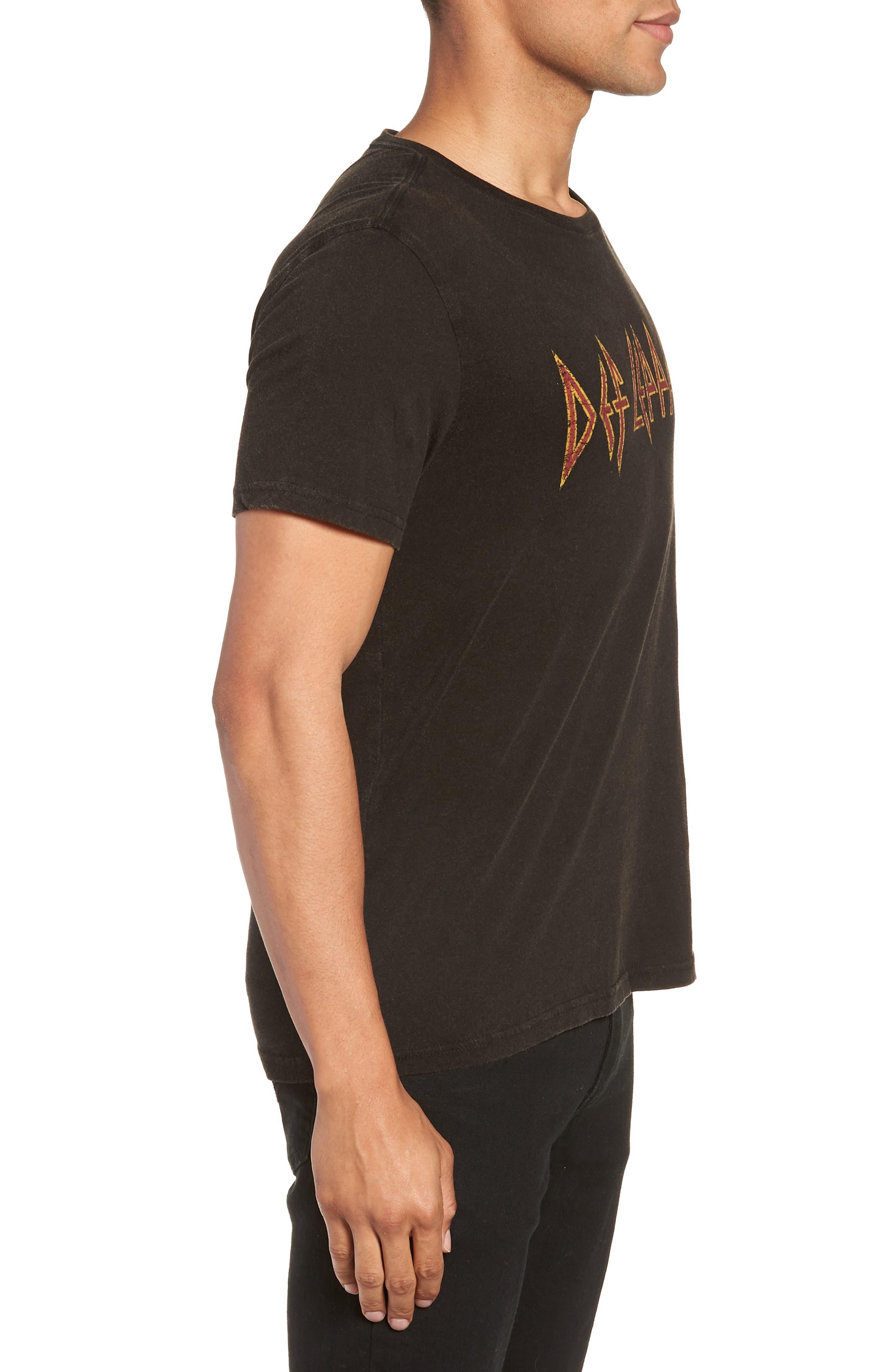 Def Leppard Graphic T-Shirt,                             Alternate thumbnail 3, color,                             001