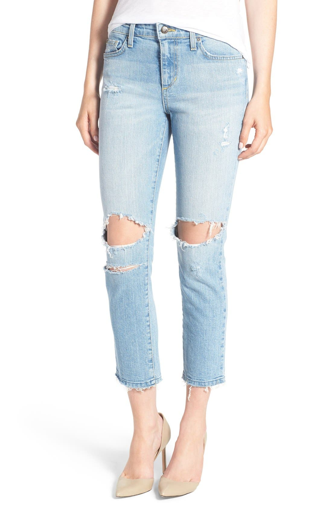 JOE'S 'Ex-Lover' Crop Straight Leg Boyfriend Jeans, Main, color, 430