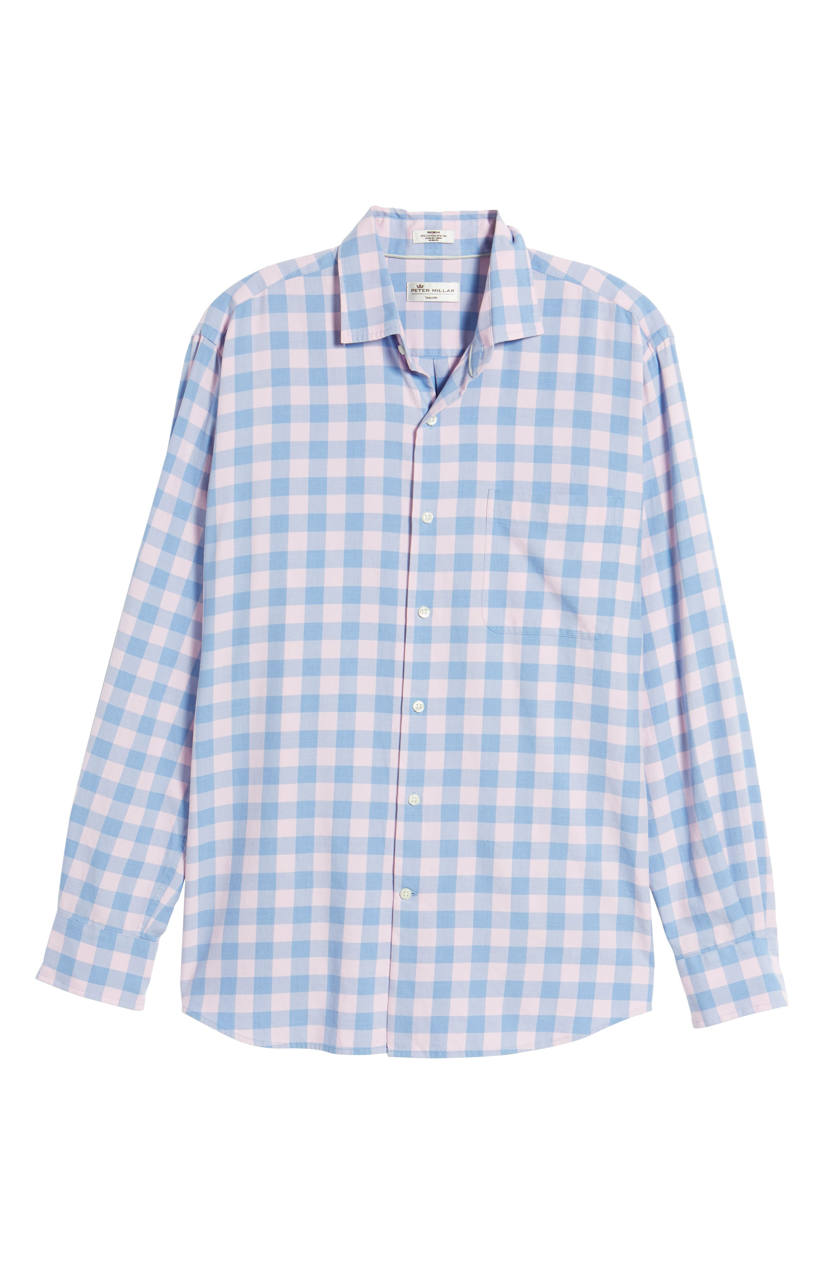 Seaglass Gingham Check Sport Shirt,                             Alternate thumbnail 6, color,                             407