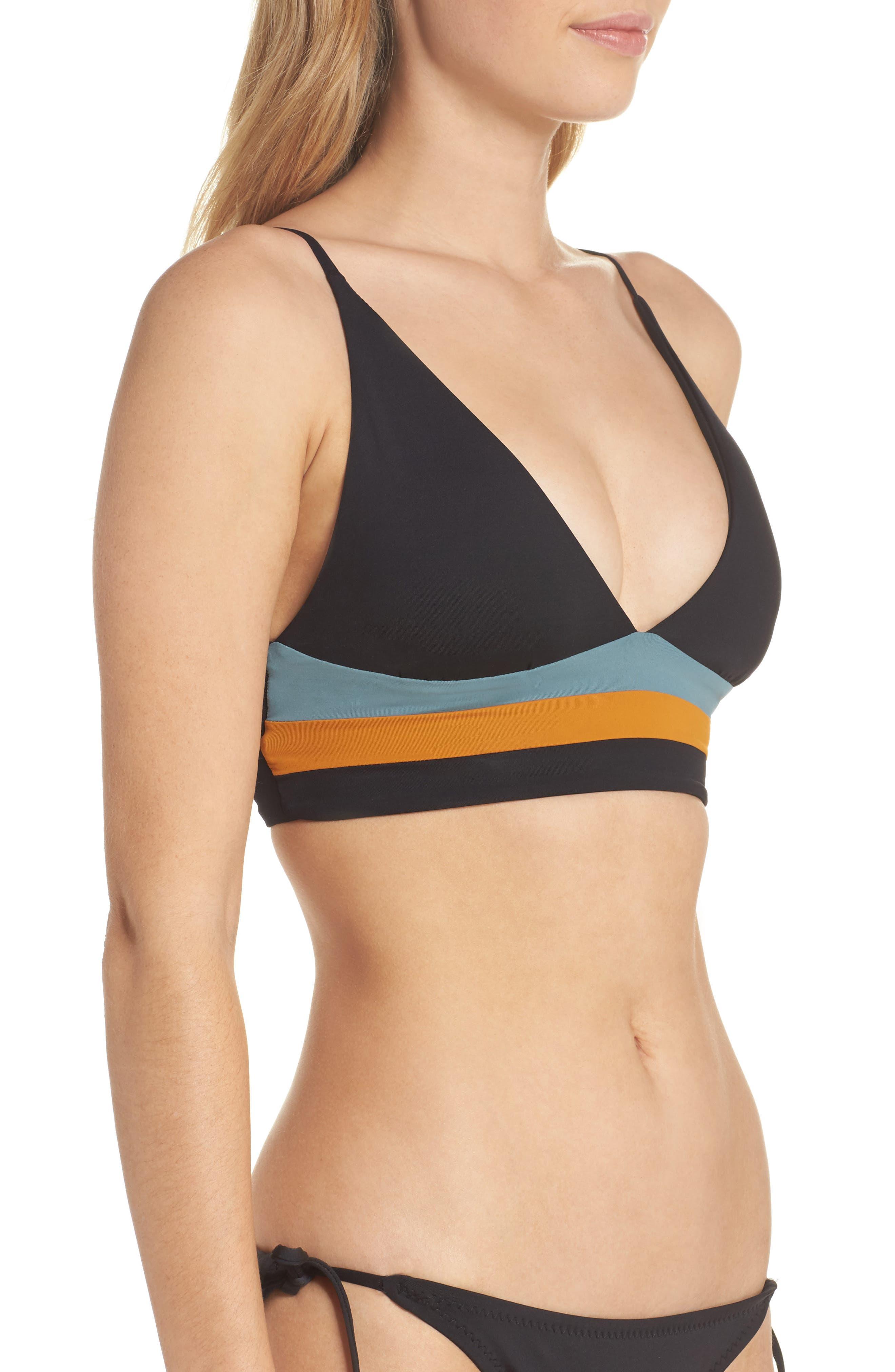 Olivia Triangle Bikini Top,                             Alternate thumbnail 3, color,                             001