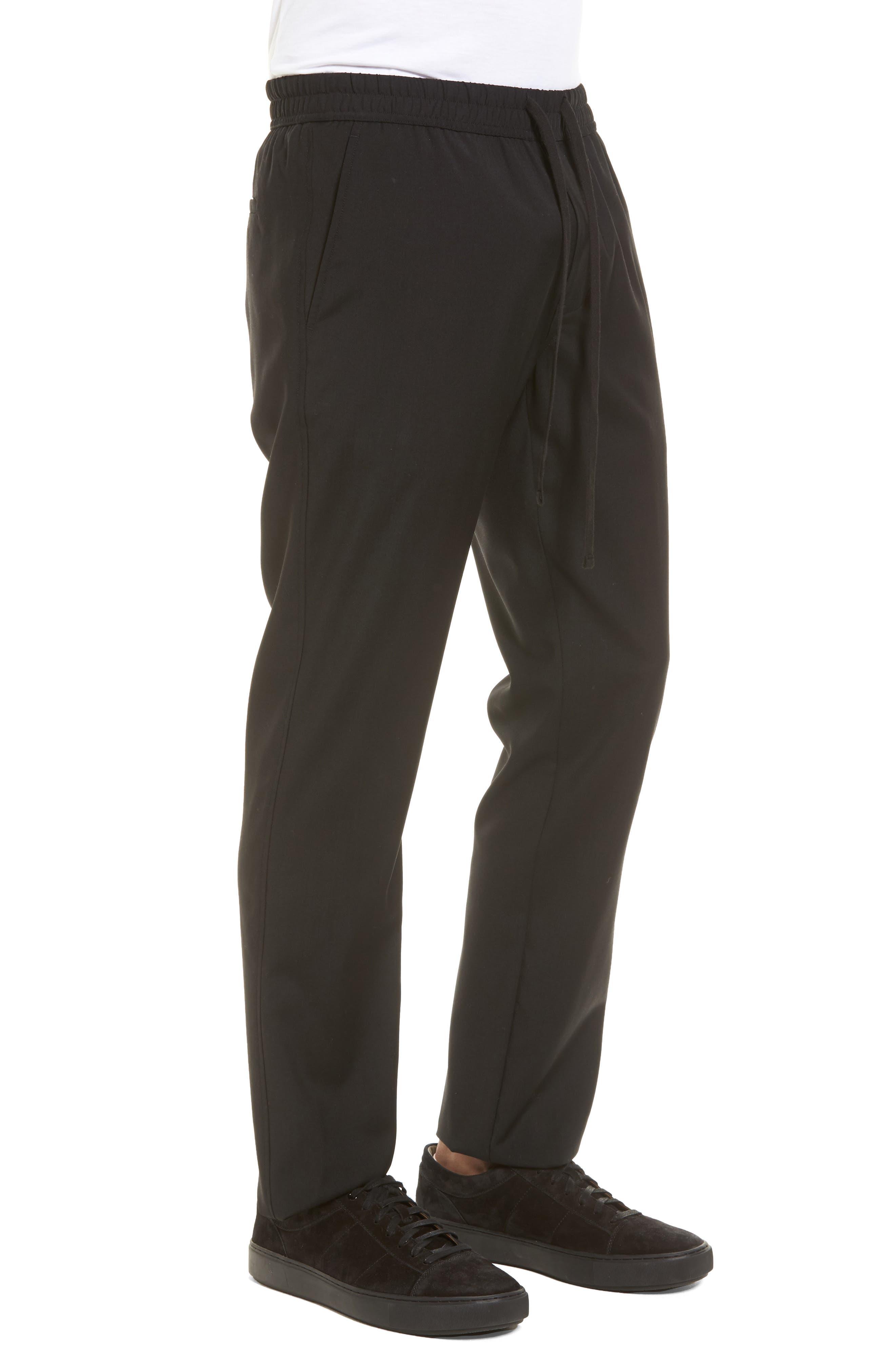 Slim Fit Wool Track Pants,                             Alternate thumbnail 3, color,                             001