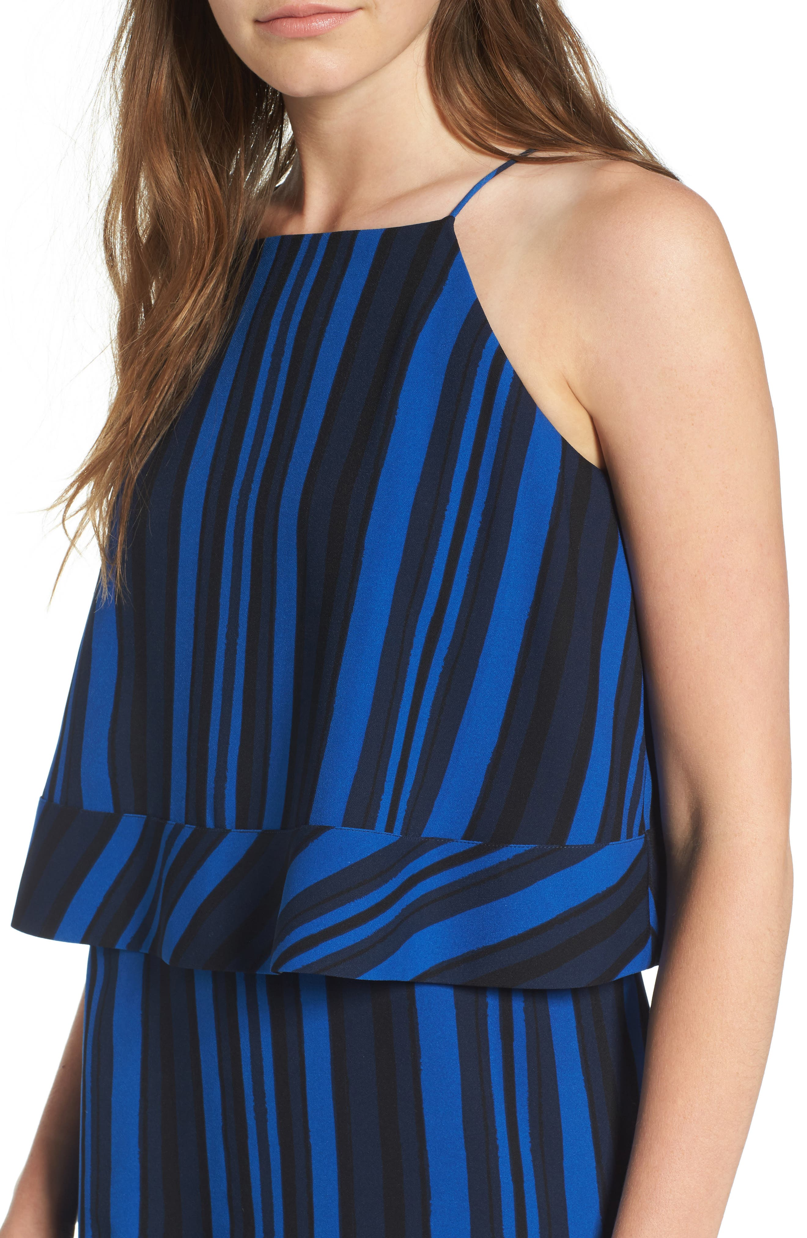 Callie Tiered Shift Dress,                             Alternate thumbnail 4, color,