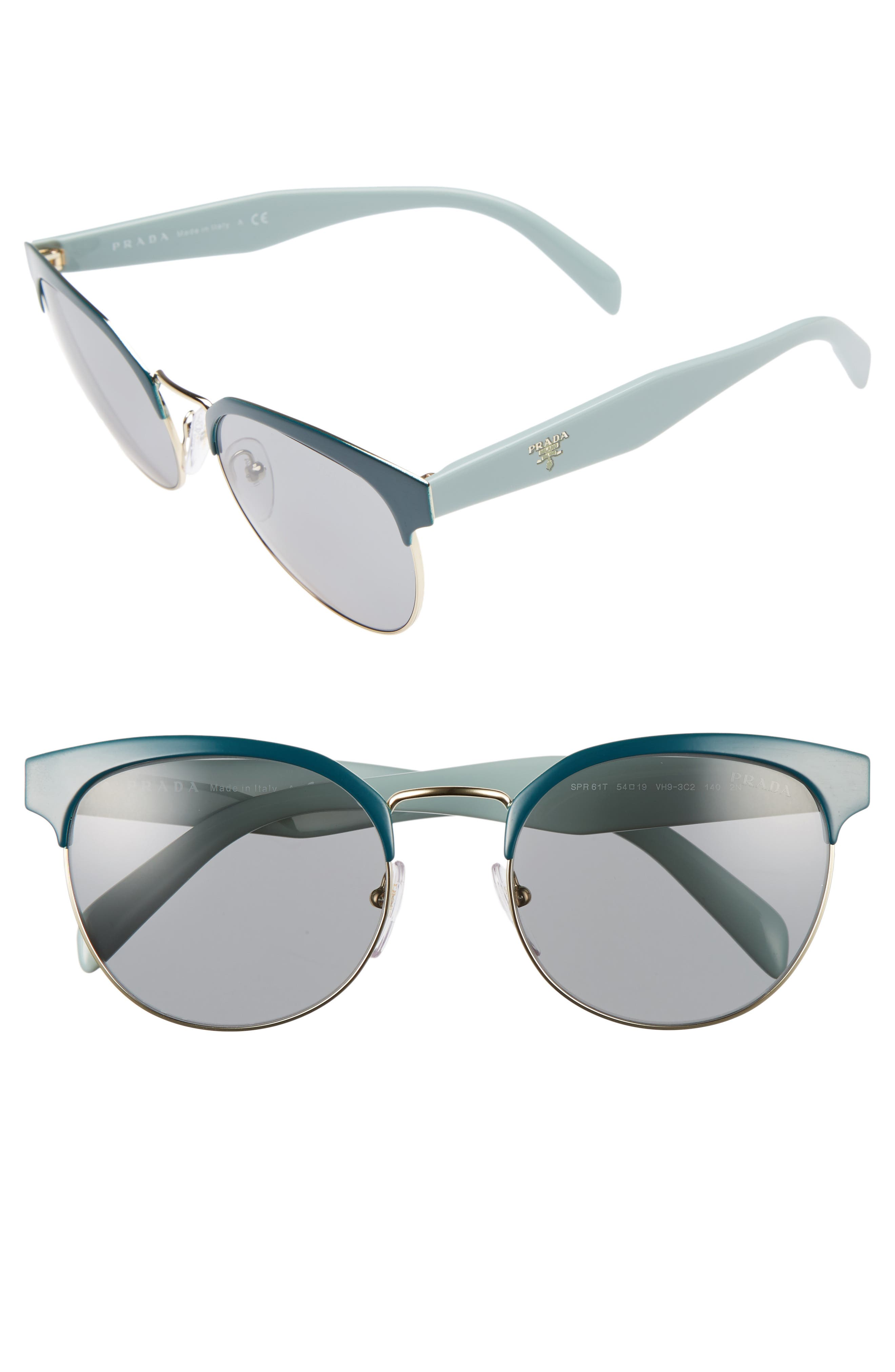 54mm Gradient Round Sunglasses,                             Main thumbnail 3, color,