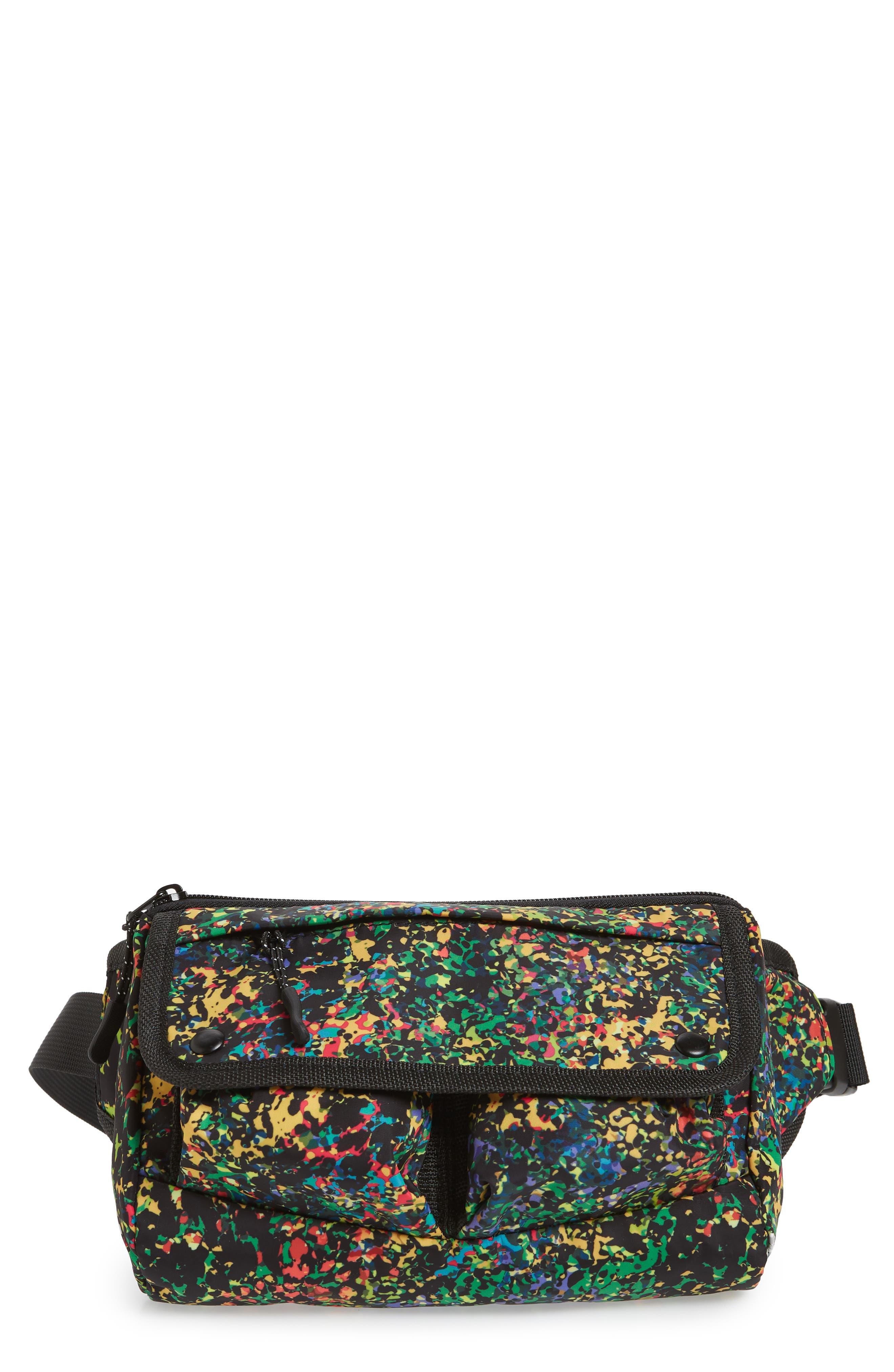 Sabre Crossbody Belt Bag,                         Main,                         color, BLACK MULTI