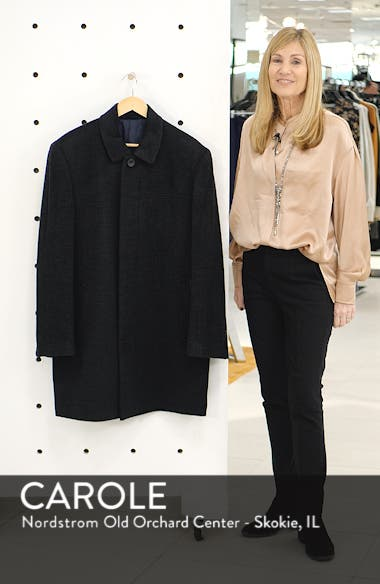 Turner Plaid Wool Blend Topcoat, sales video thumbnail