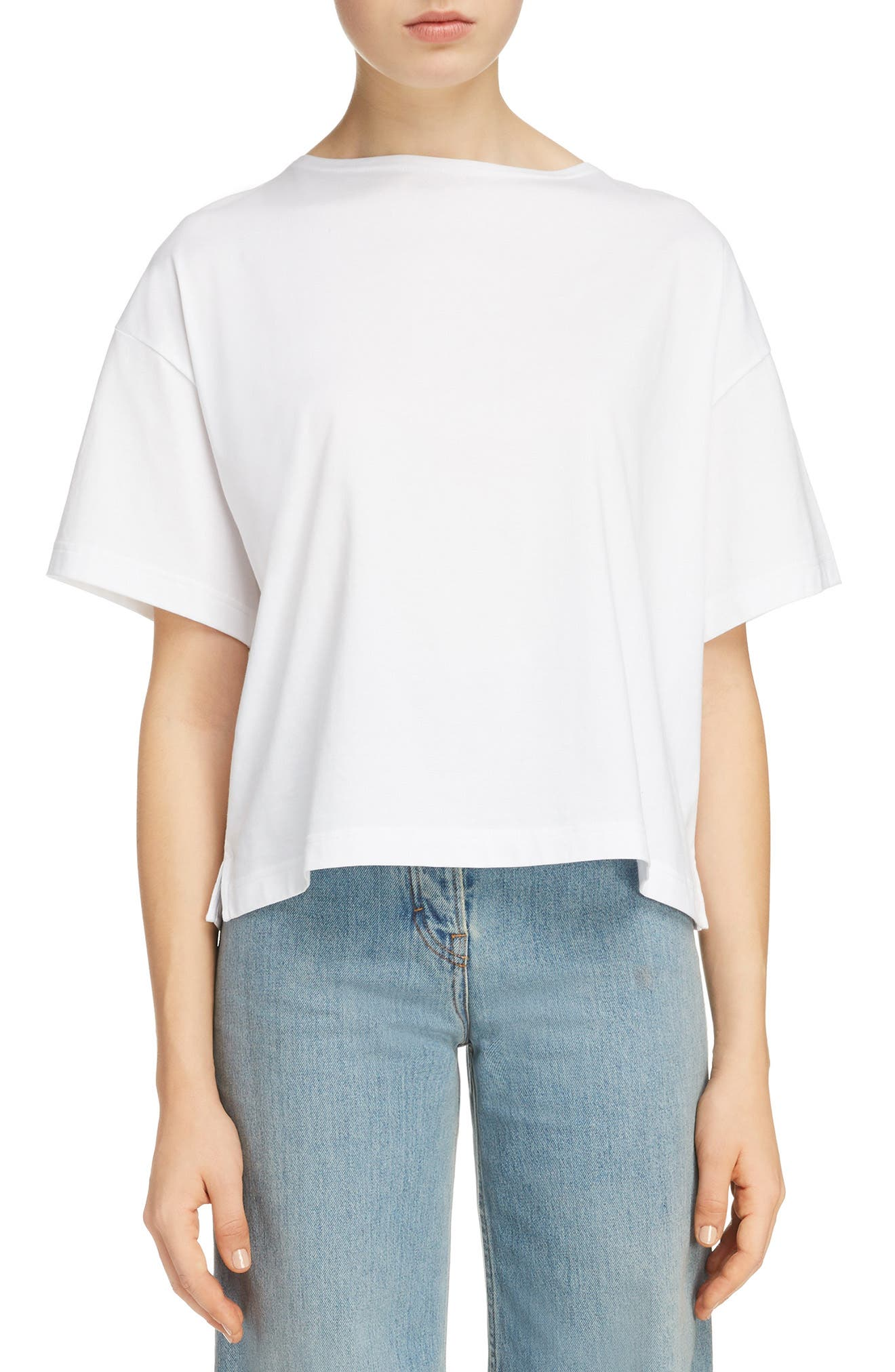 Marwig Boxy Tee,                         Main,                         color, OPTIC WHITE