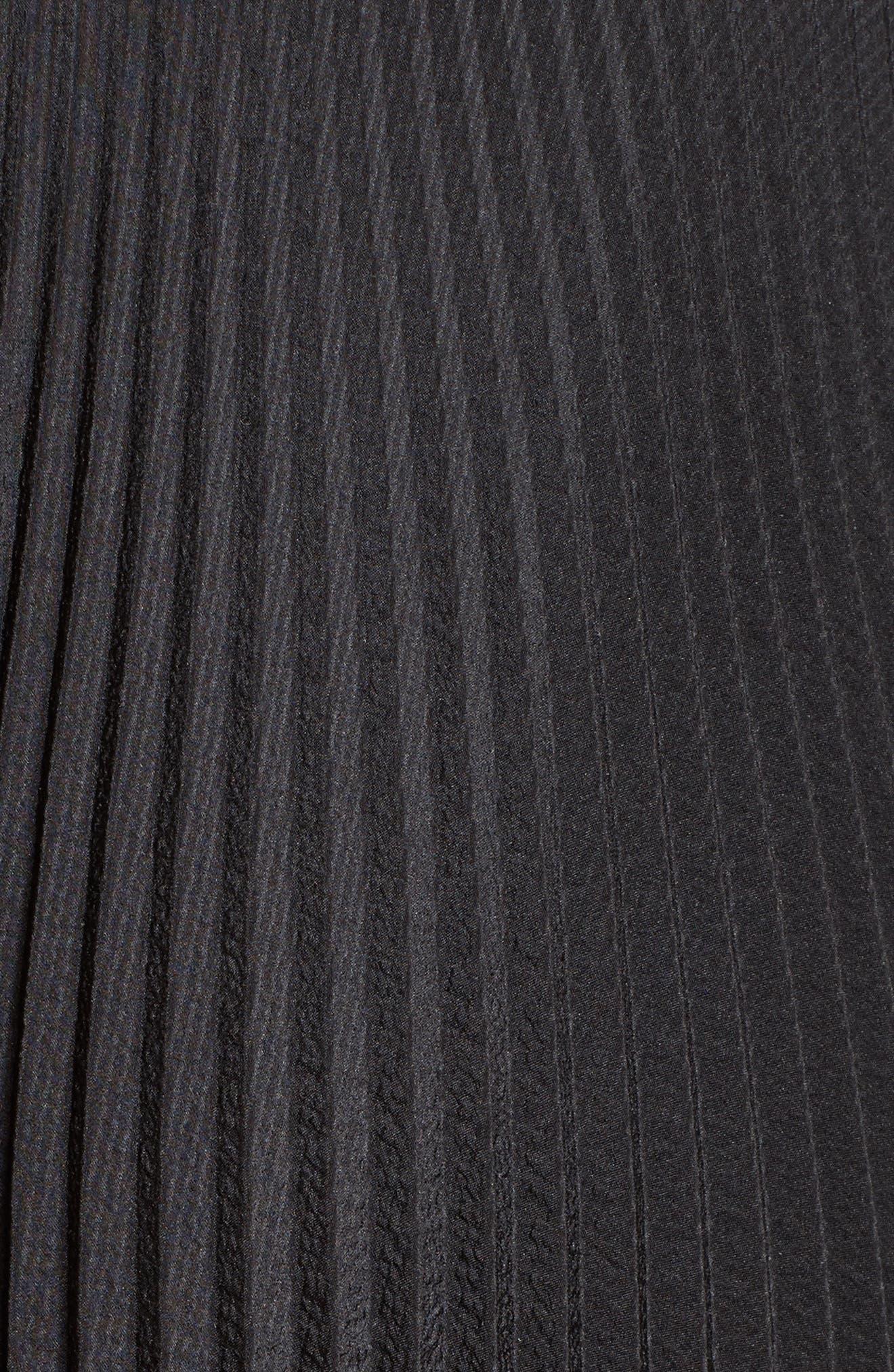 Pleated Handkerchief Hem Skirt,                             Alternate thumbnail 5, color,                             001