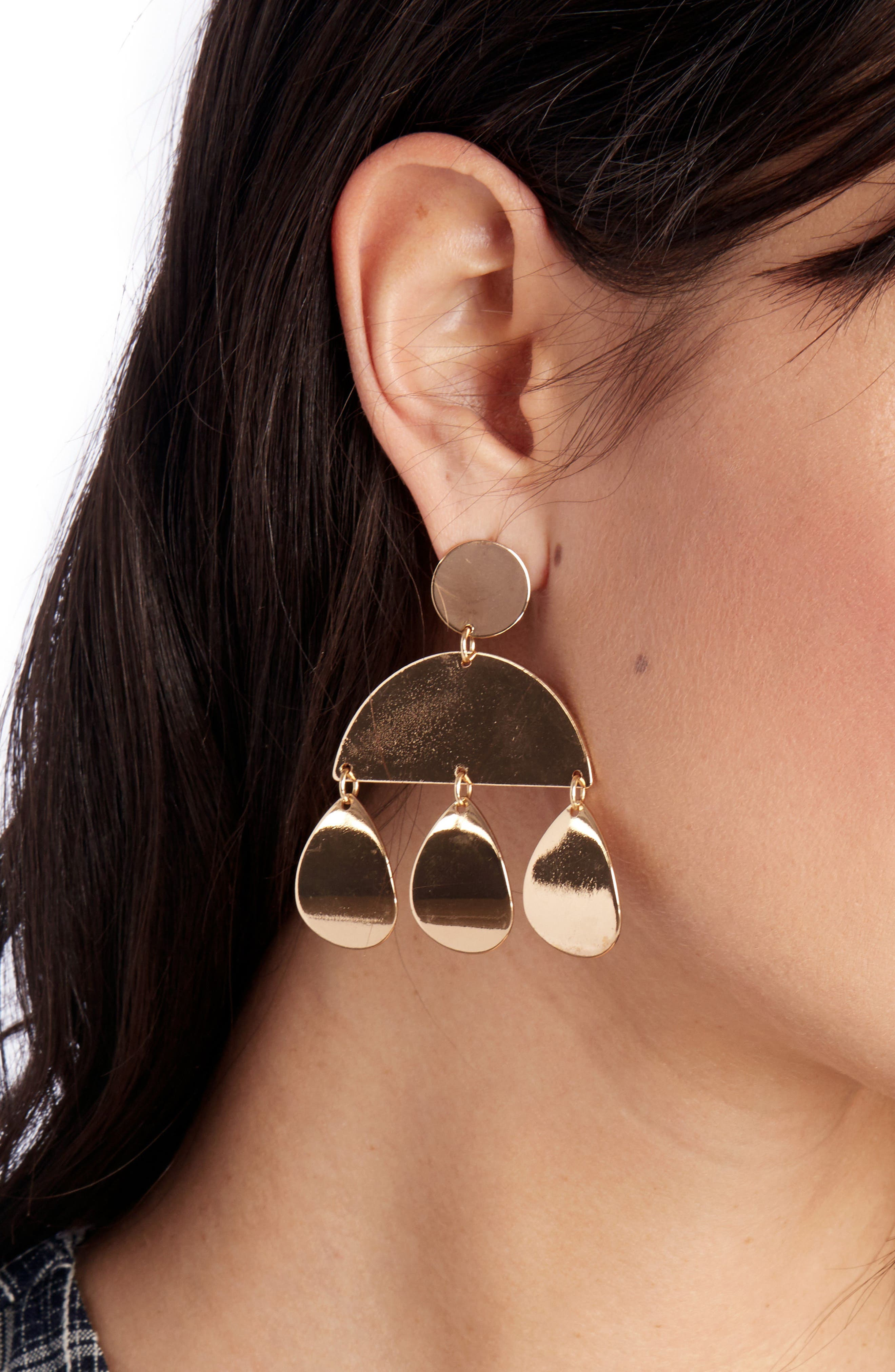 Geometric Plate Earrings,                             Alternate thumbnail 2, color,                             710