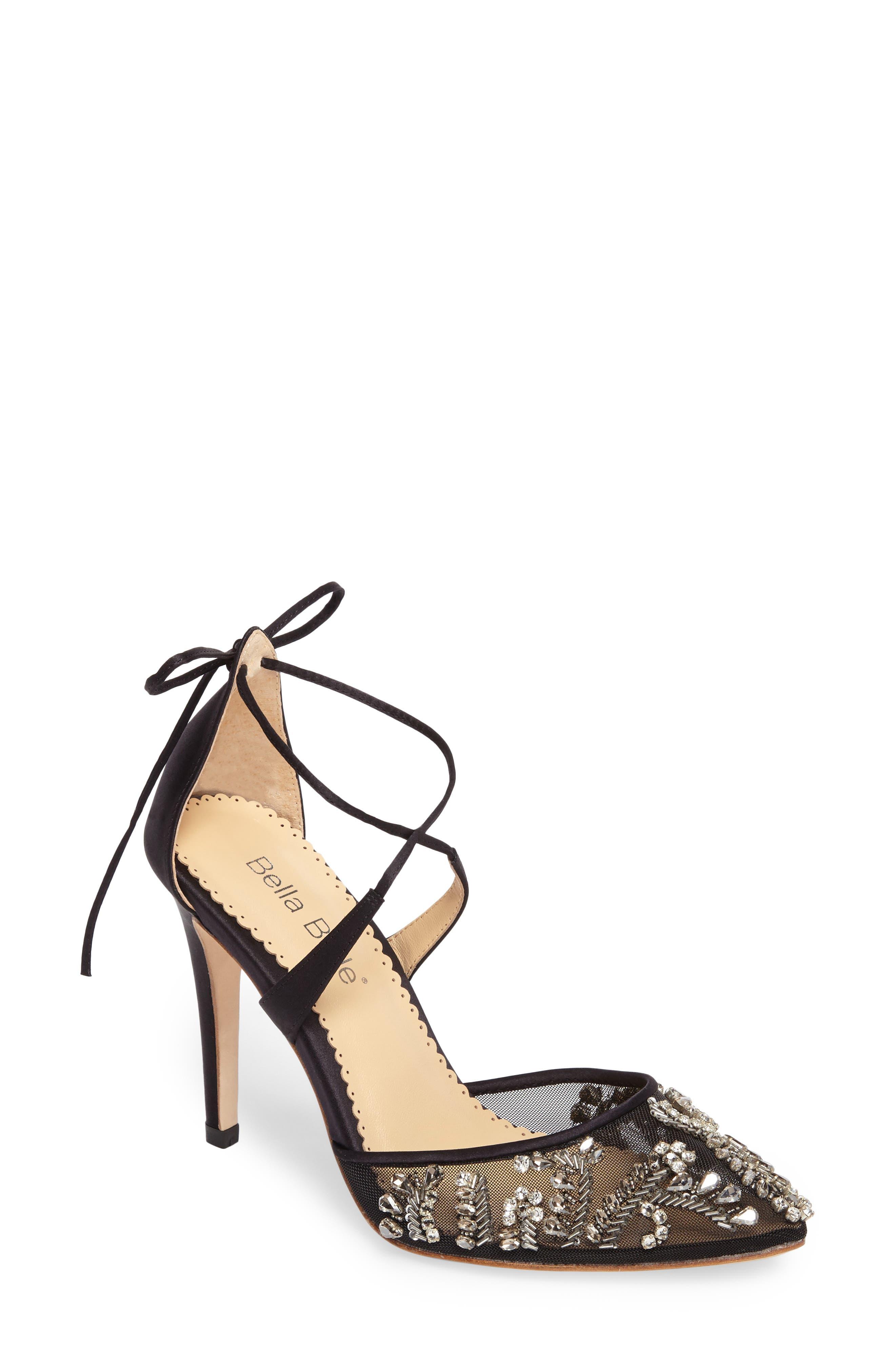 Florence Embellished Bow Sandal,                         Main,                         color, 001