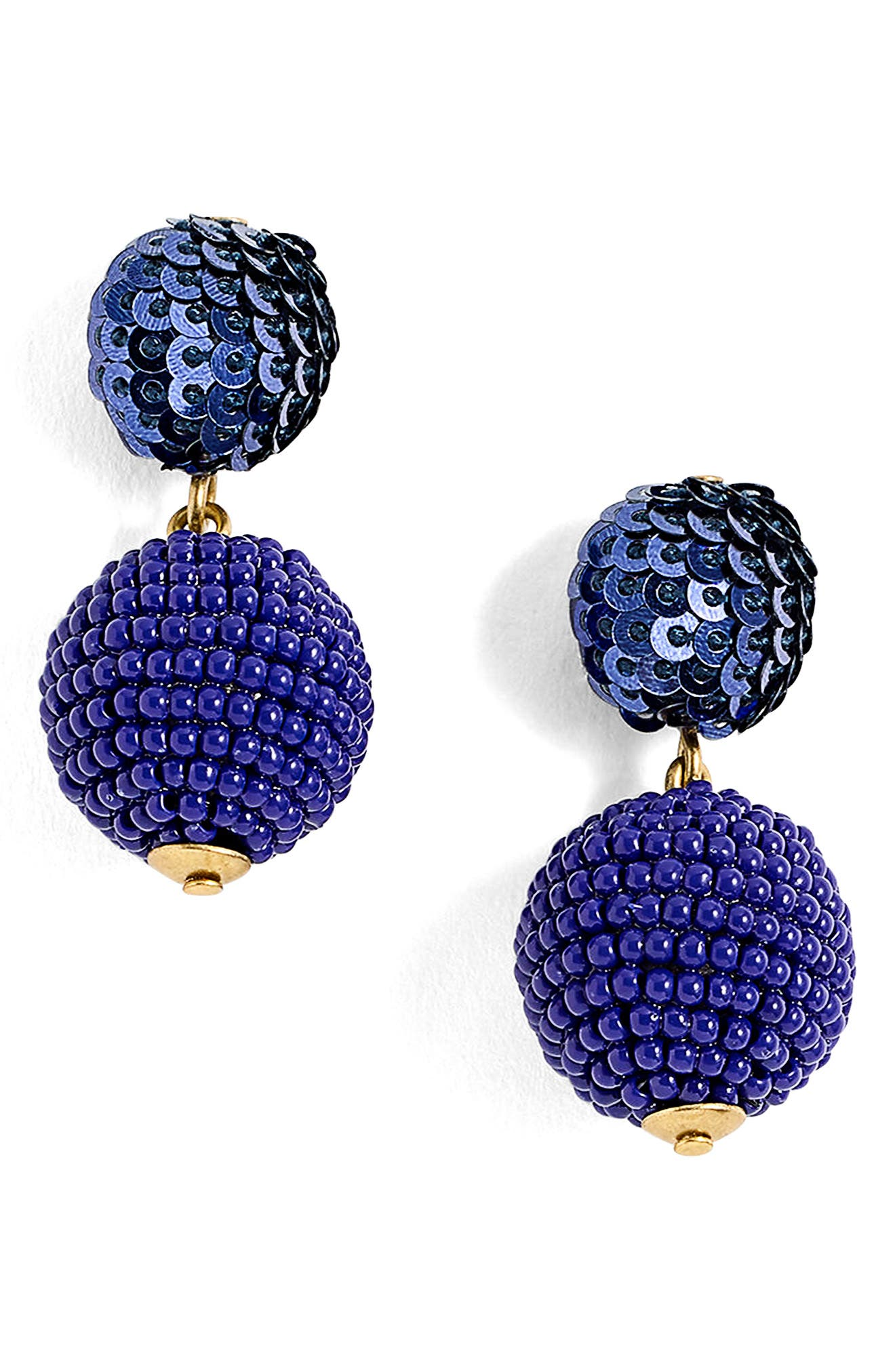 Sequin & Bead Ball-Drop Earrings,                             Main thumbnail 1, color,                             400