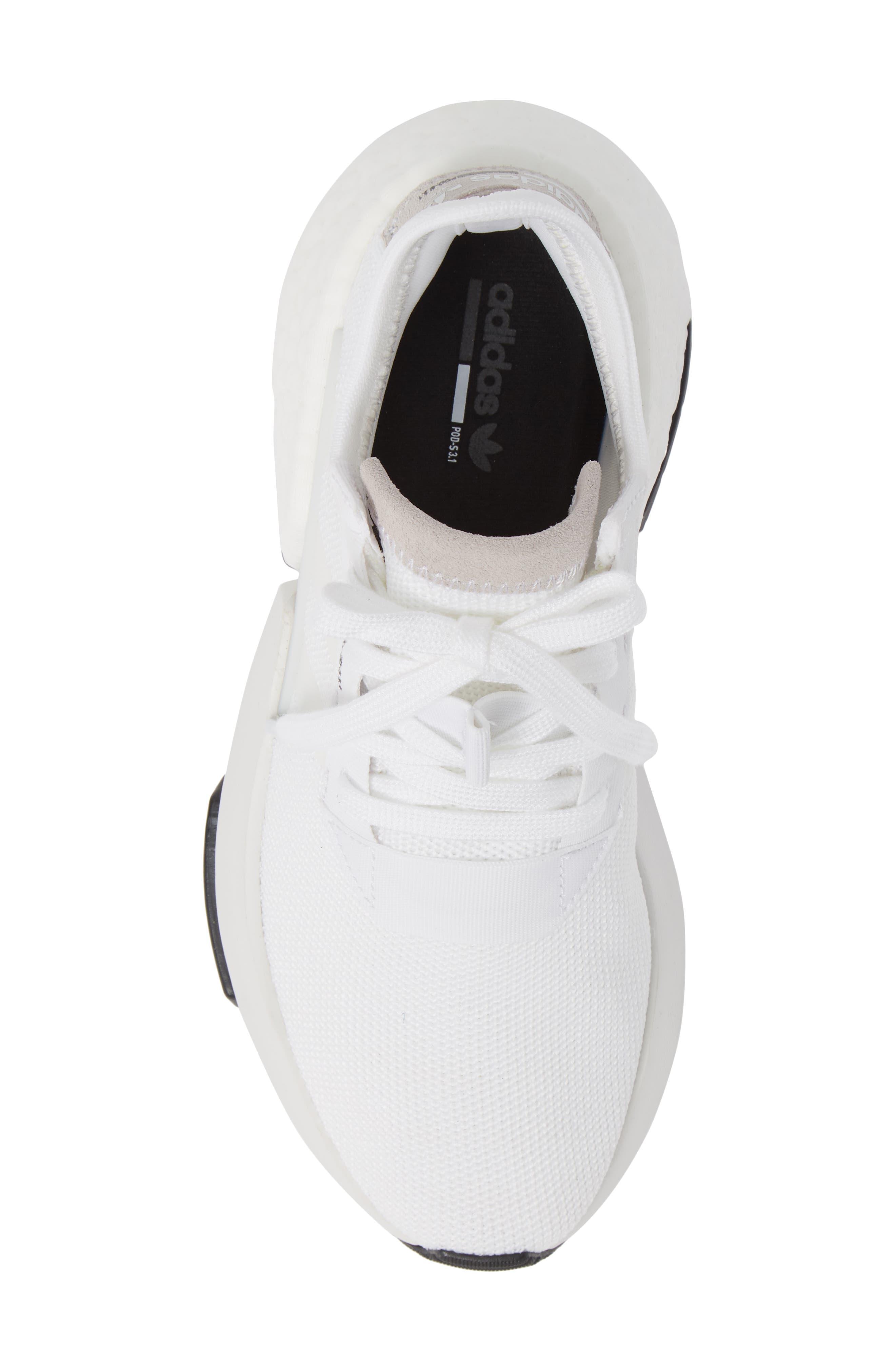Pod S3.1 Sneaker,                             Alternate thumbnail 5, color,                             WHITE/ WHITE/ CORE BLACK