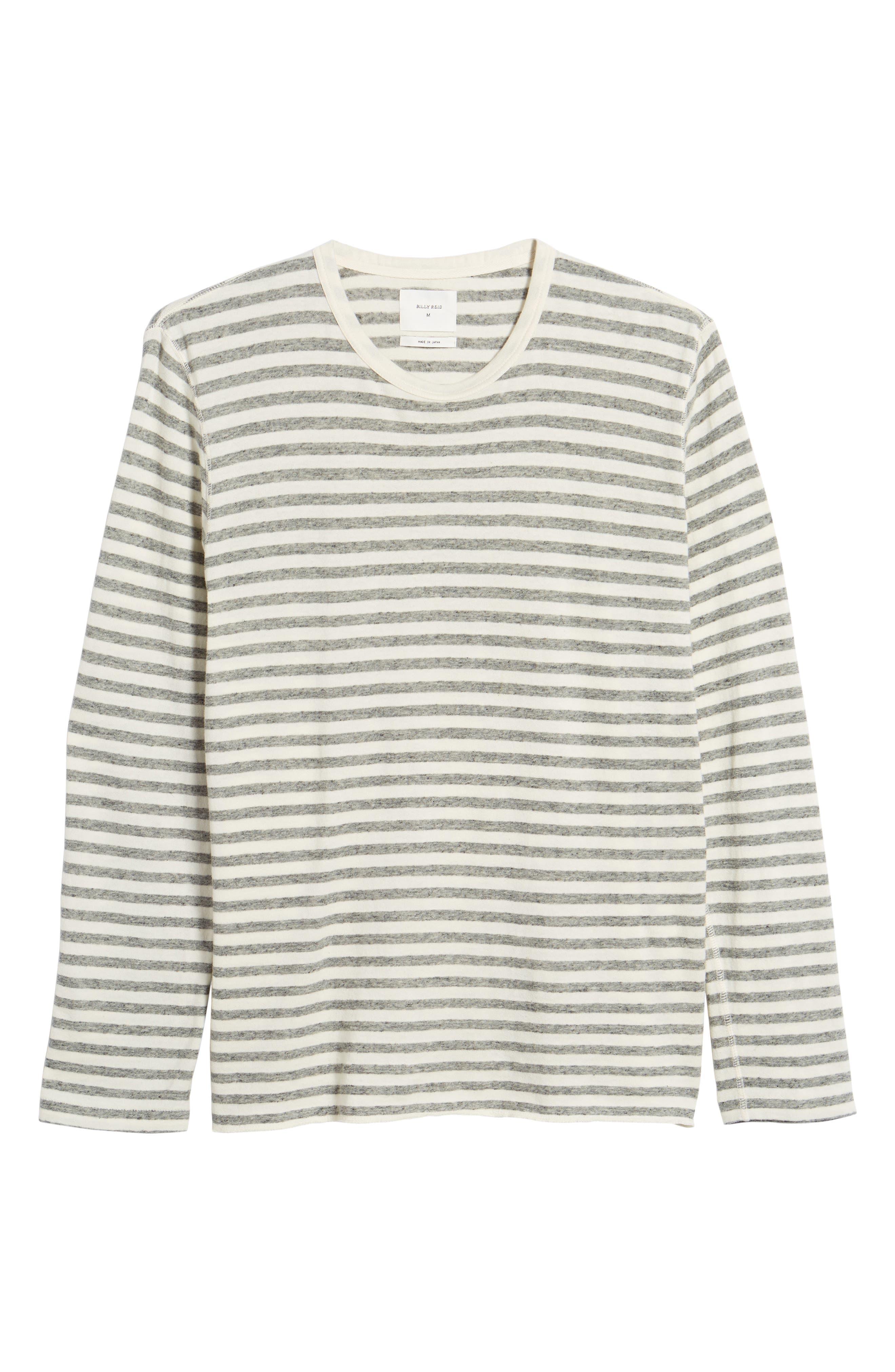 Stripe Long Sleeve Shirt,                             Alternate thumbnail 6, color,